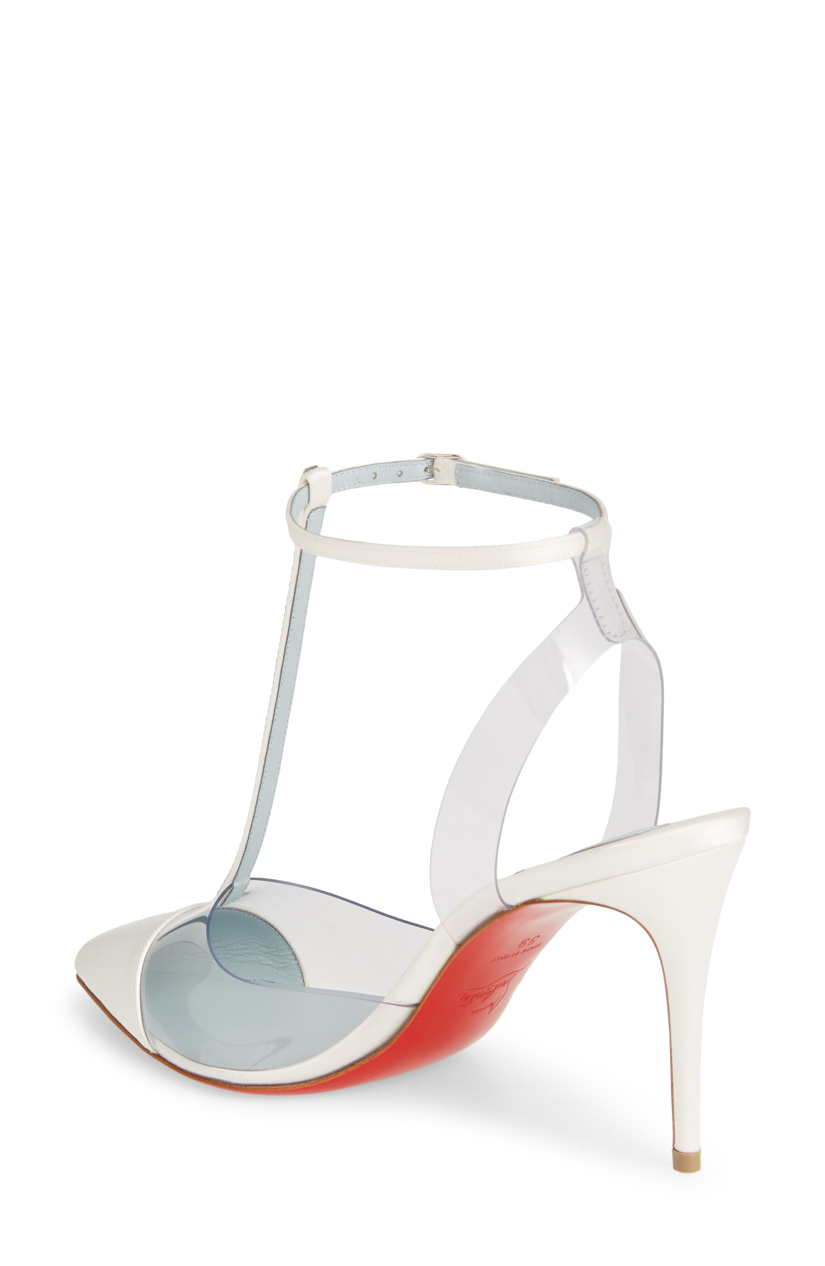 CHRISTIAN LOUBOUTIN,                             Nosy Jewel Clear Pump,                             Alternate thumbnail 2, color,                             OFF WHITE
