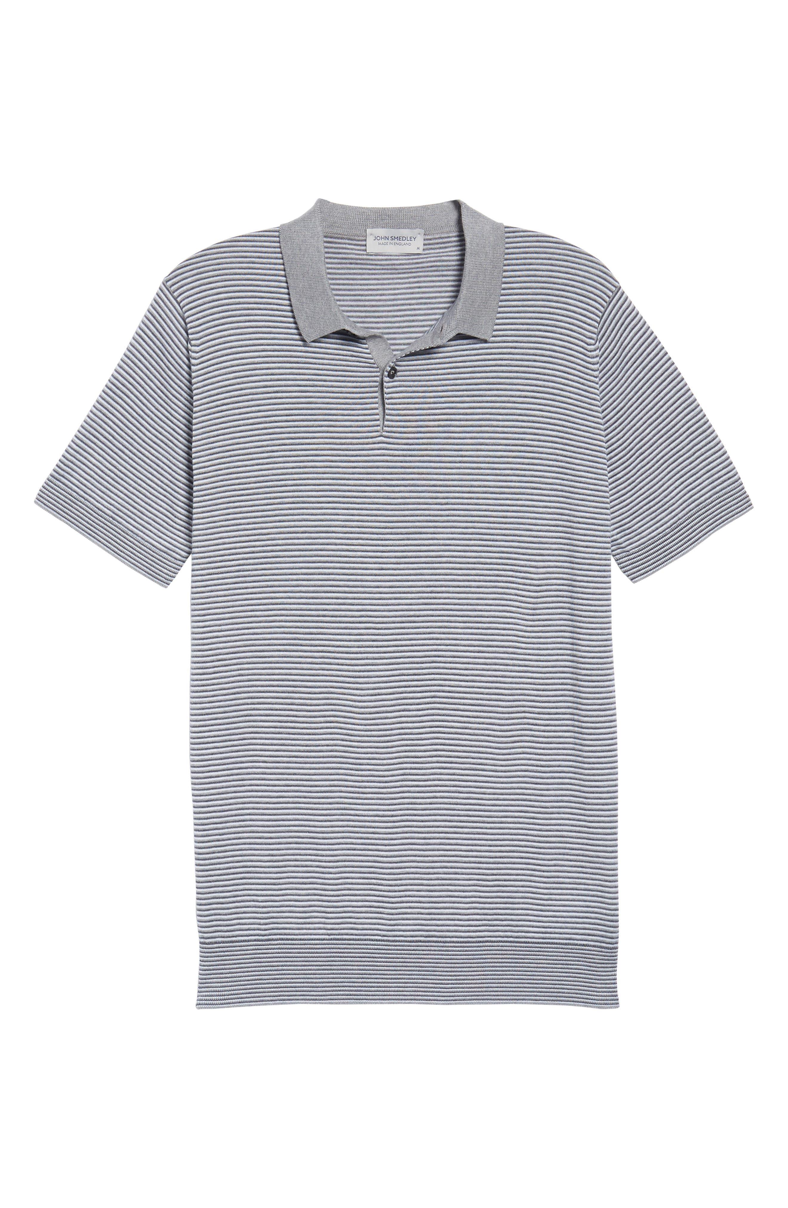 Stripe Jersey Polo,                             Alternate thumbnail 6, color,                             020