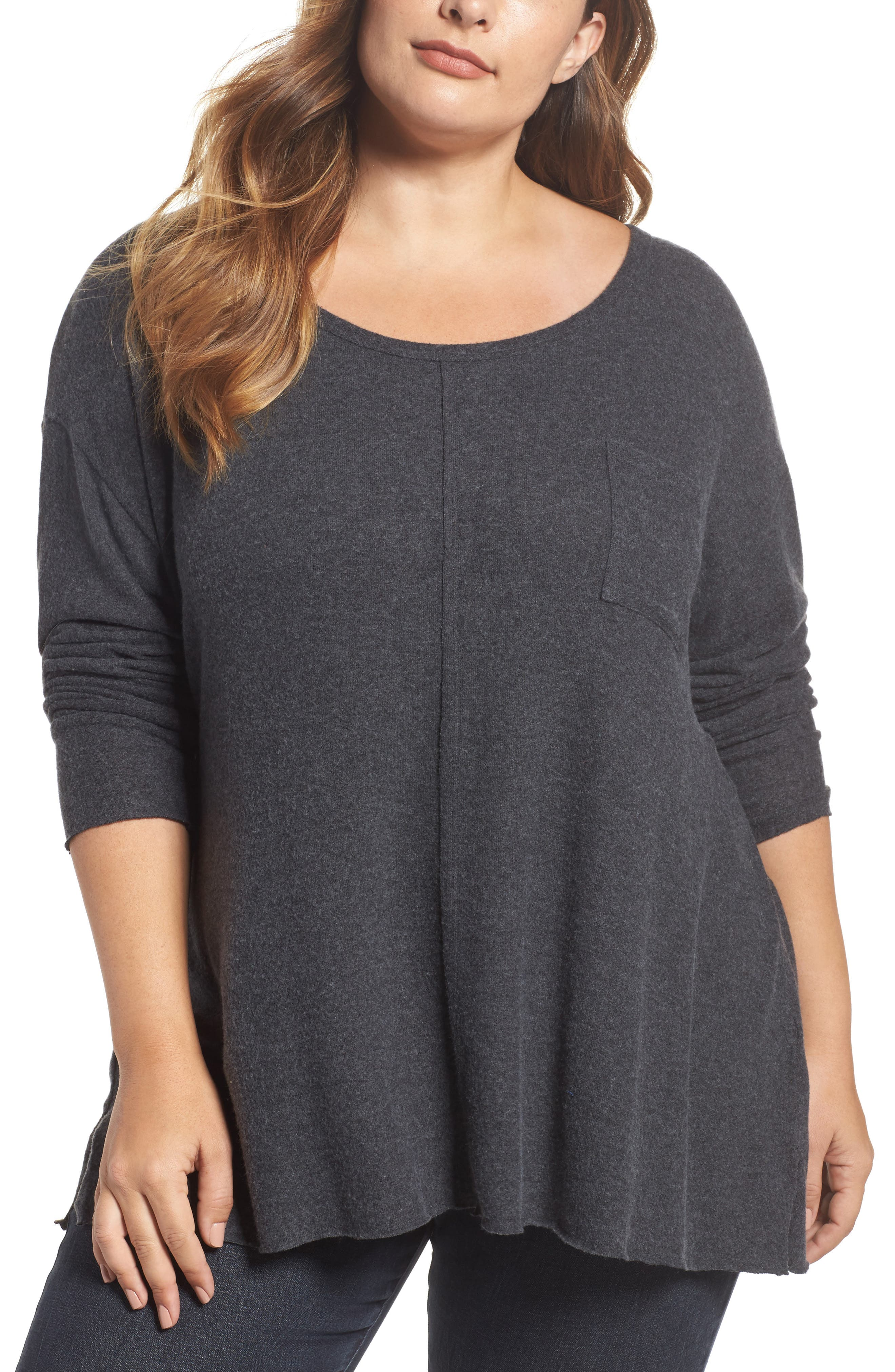 Drop Shoulder Pocket Top,                             Main thumbnail 2, color,