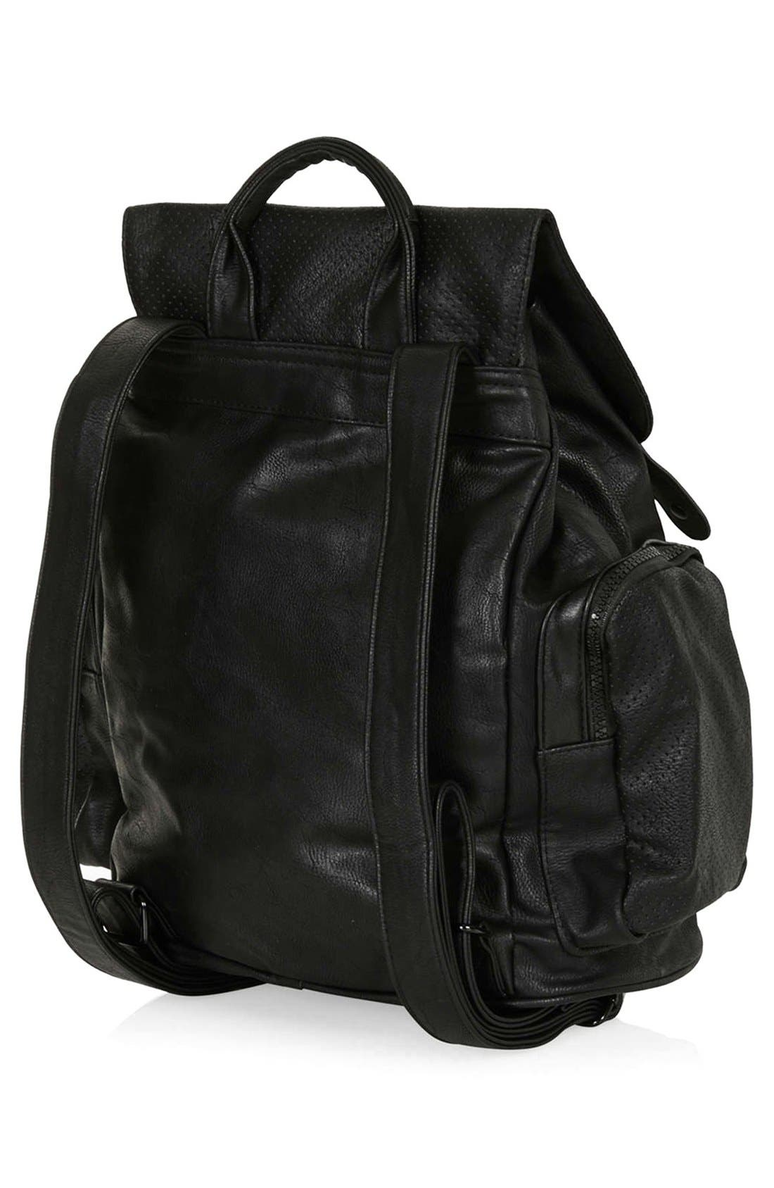 Perforated Backpack,                             Alternate thumbnail 6, color,                             001