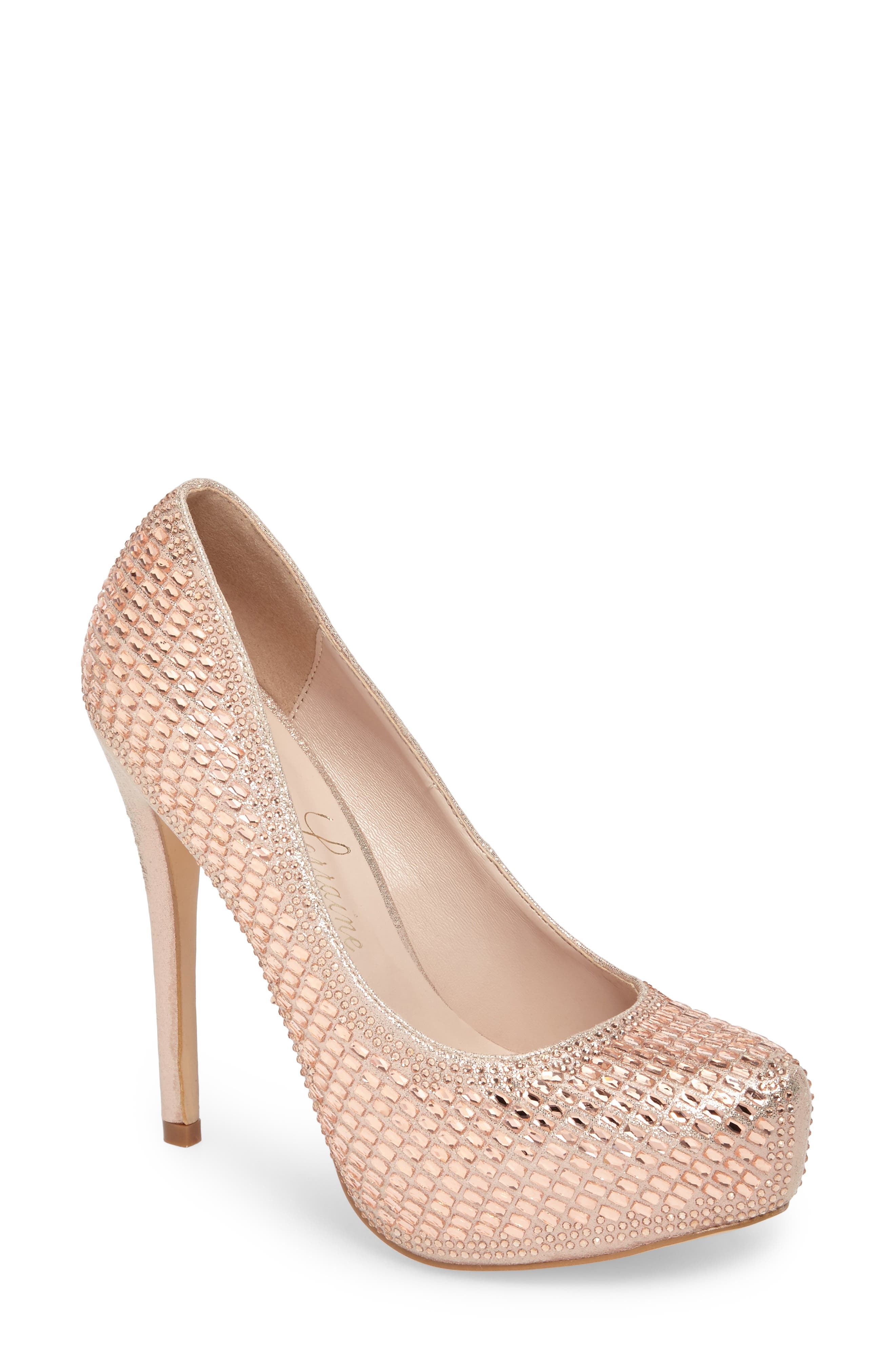 Vanna 5 Platform Pump,                         Main,                         color, ROSE GOLD