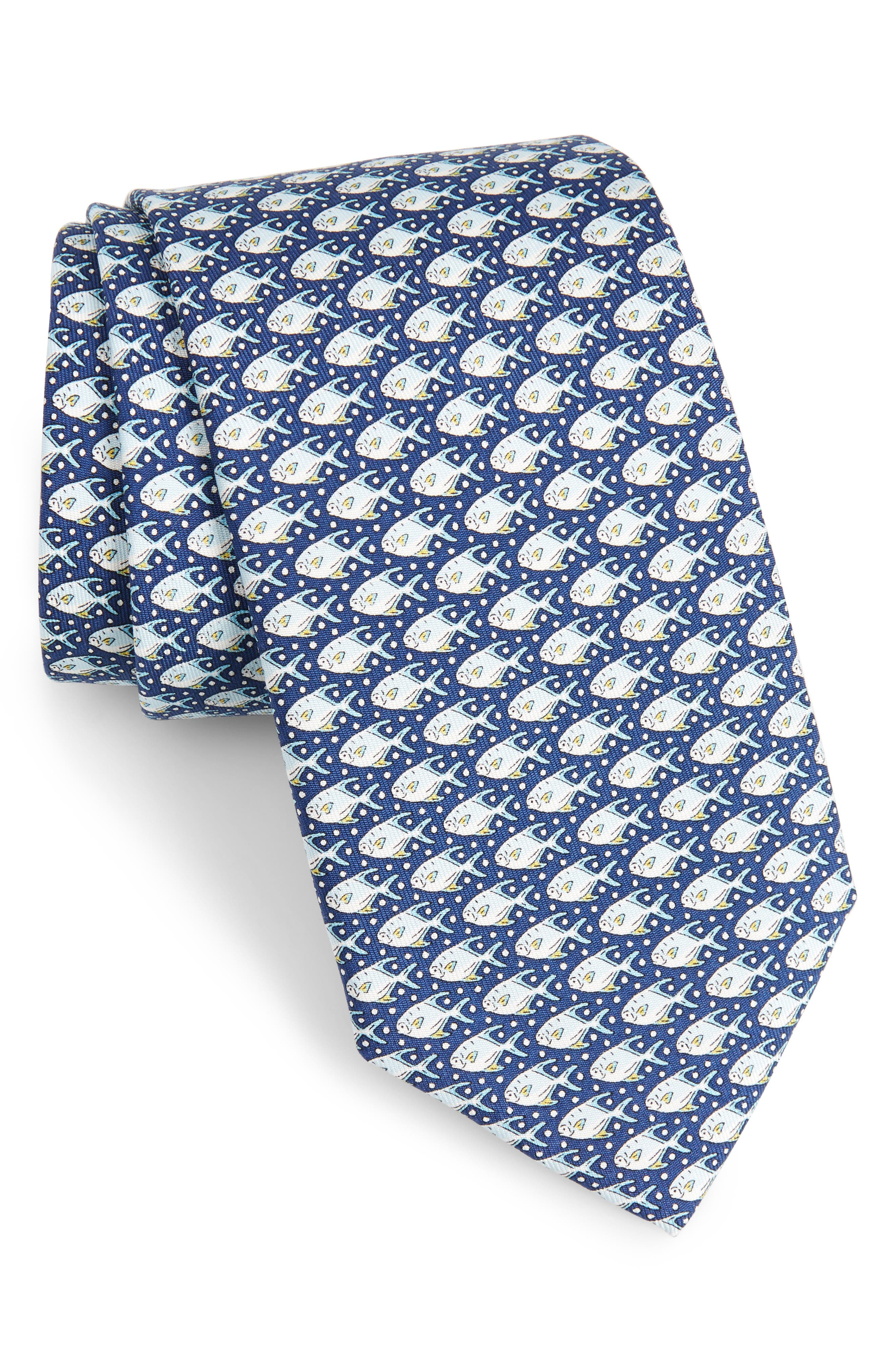 Permit & Bubble Silk Tie,                         Main,                         color,