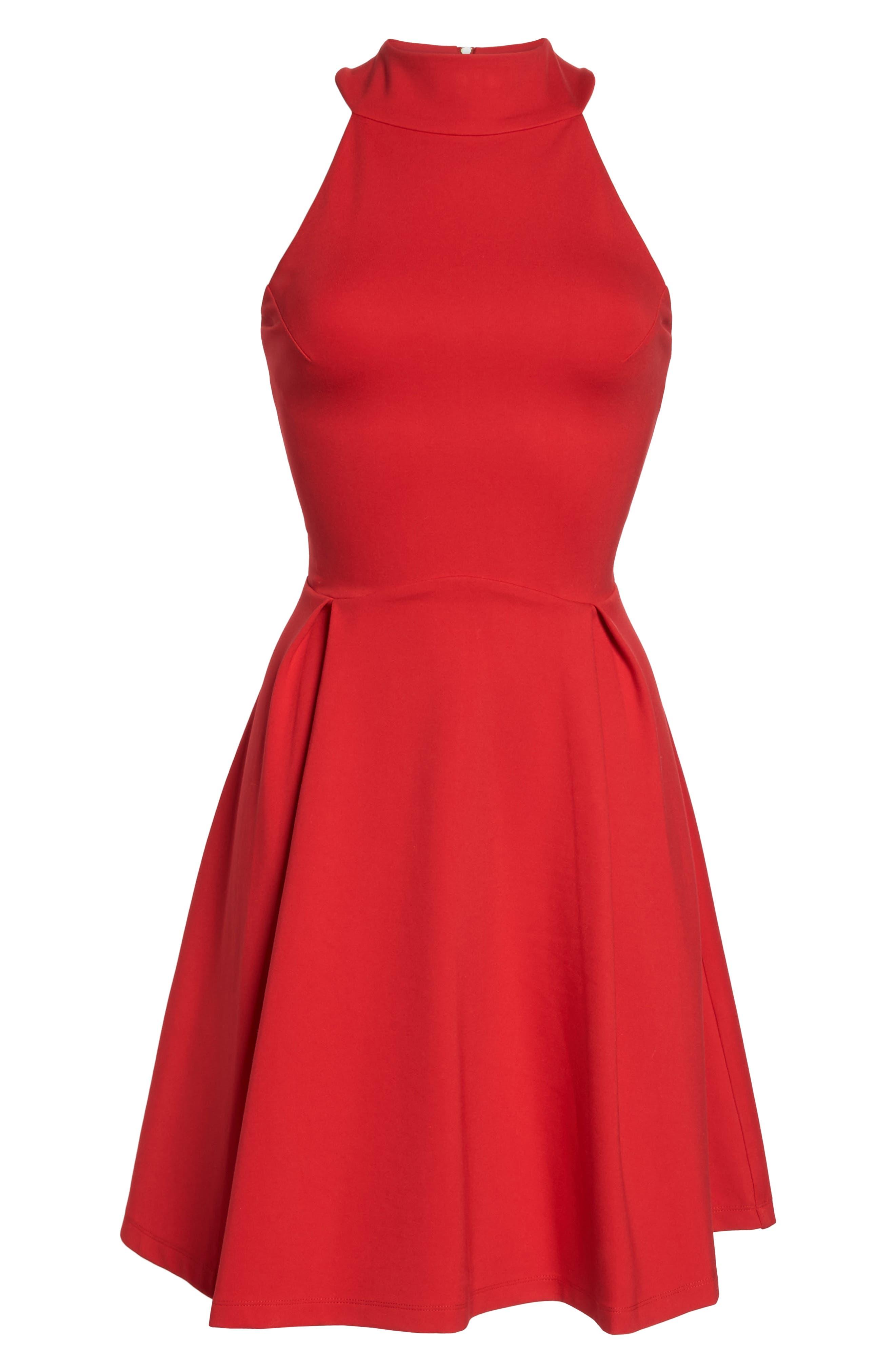 Rosa Fit & Flare Dress,                             Alternate thumbnail 6, color,