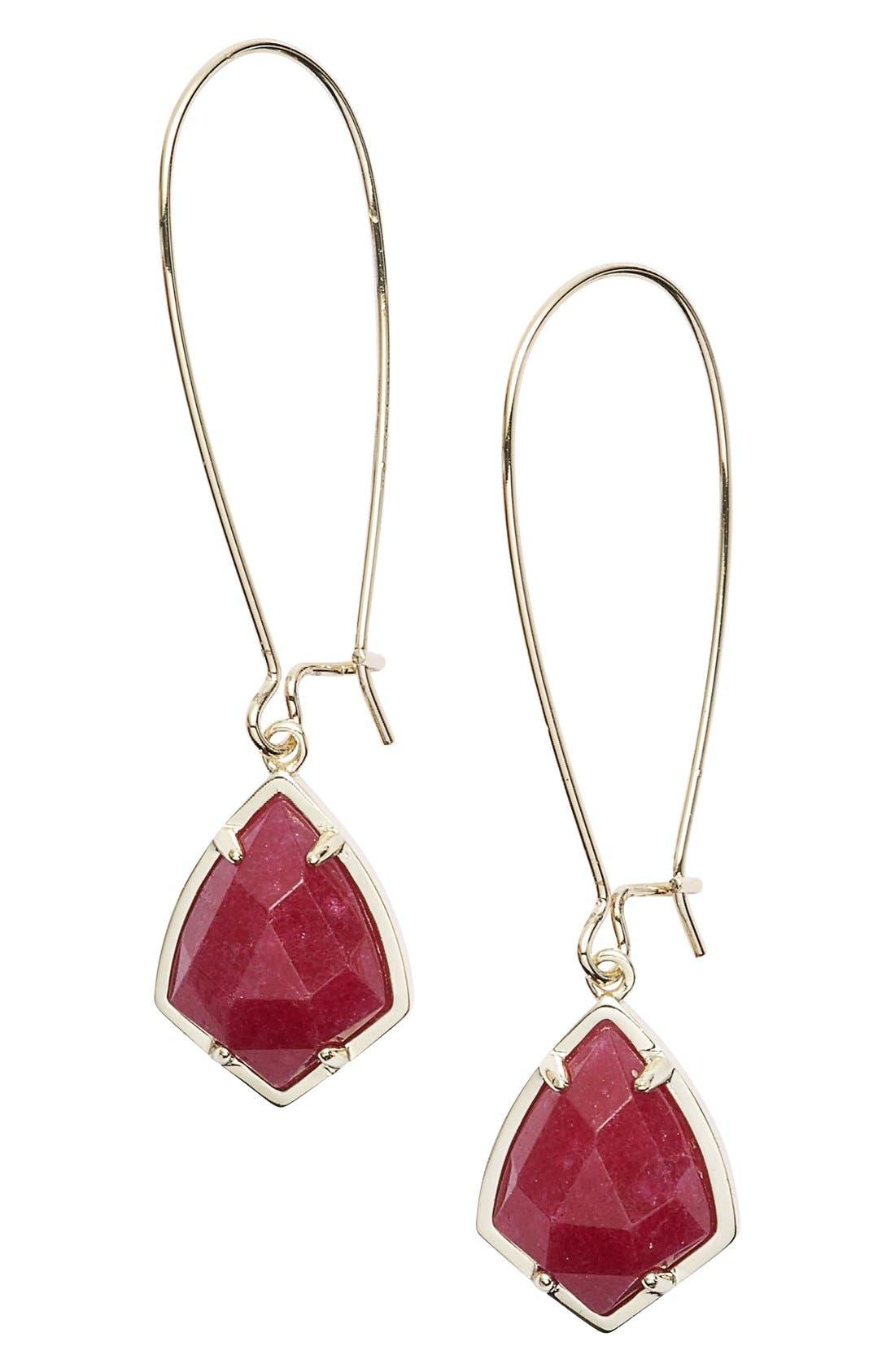 'Carrine' Semiprecious Stone Drop Earrings,                             Main thumbnail 10, color,
