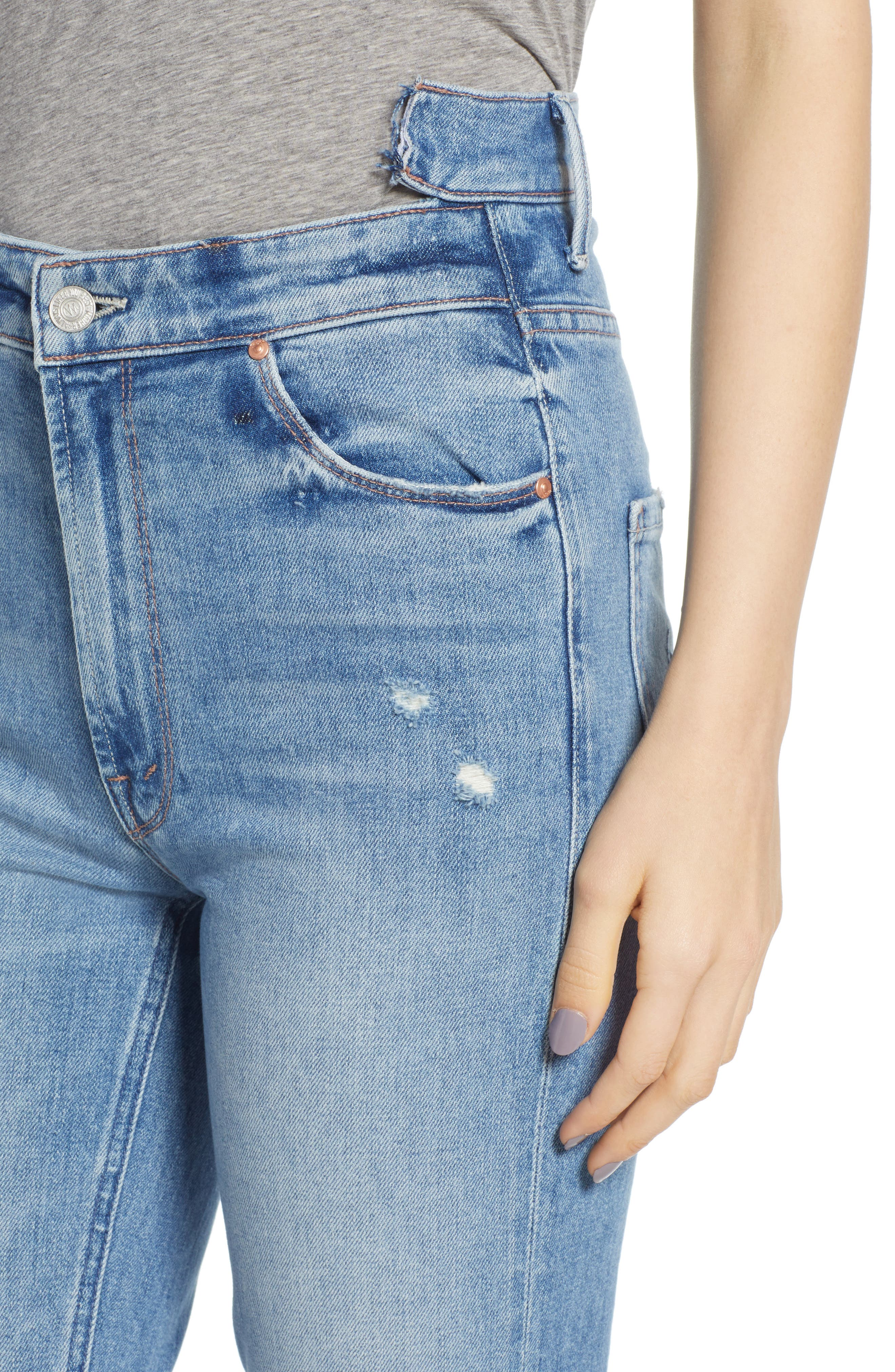 Dazzler Shift Step Waistband Jeans,                             Alternate thumbnail 4, color,                             452