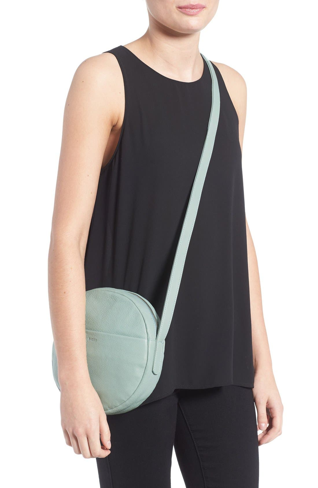 Pebbled Leather Crossbody Bag,                             Alternate thumbnail 9, color,