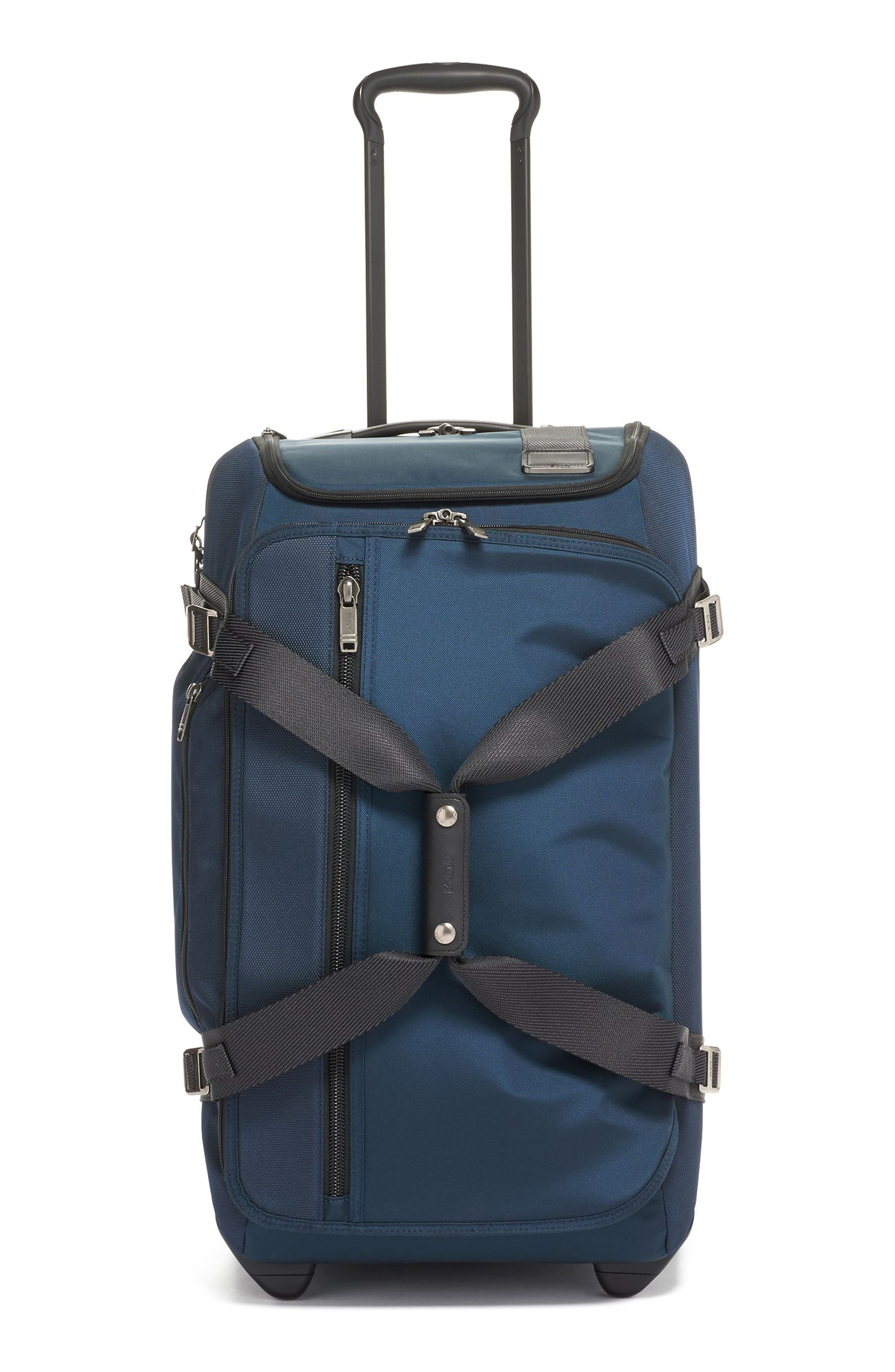 Merge Wheeled Duffel Packing Case,                             Main thumbnail 1, color,                             NAVY