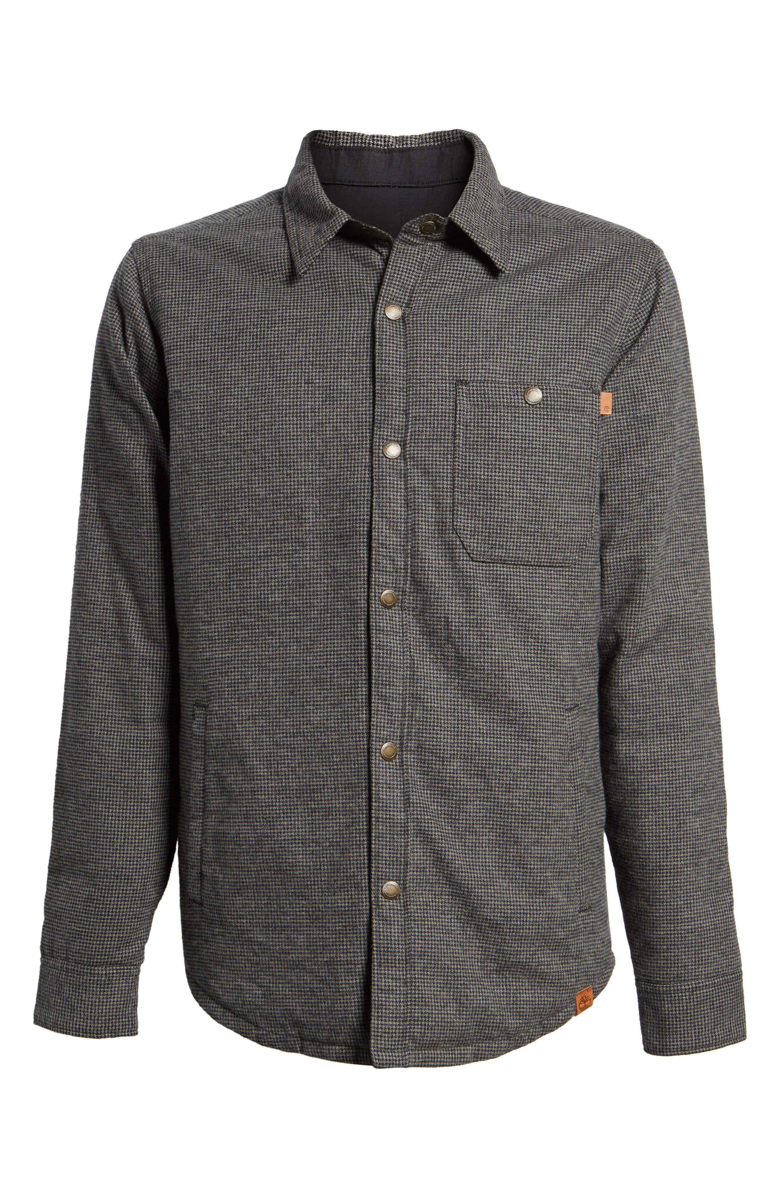 Gunstock River Reversible Down Shirt Jacket,                             Alternate thumbnail 5, color,                             001