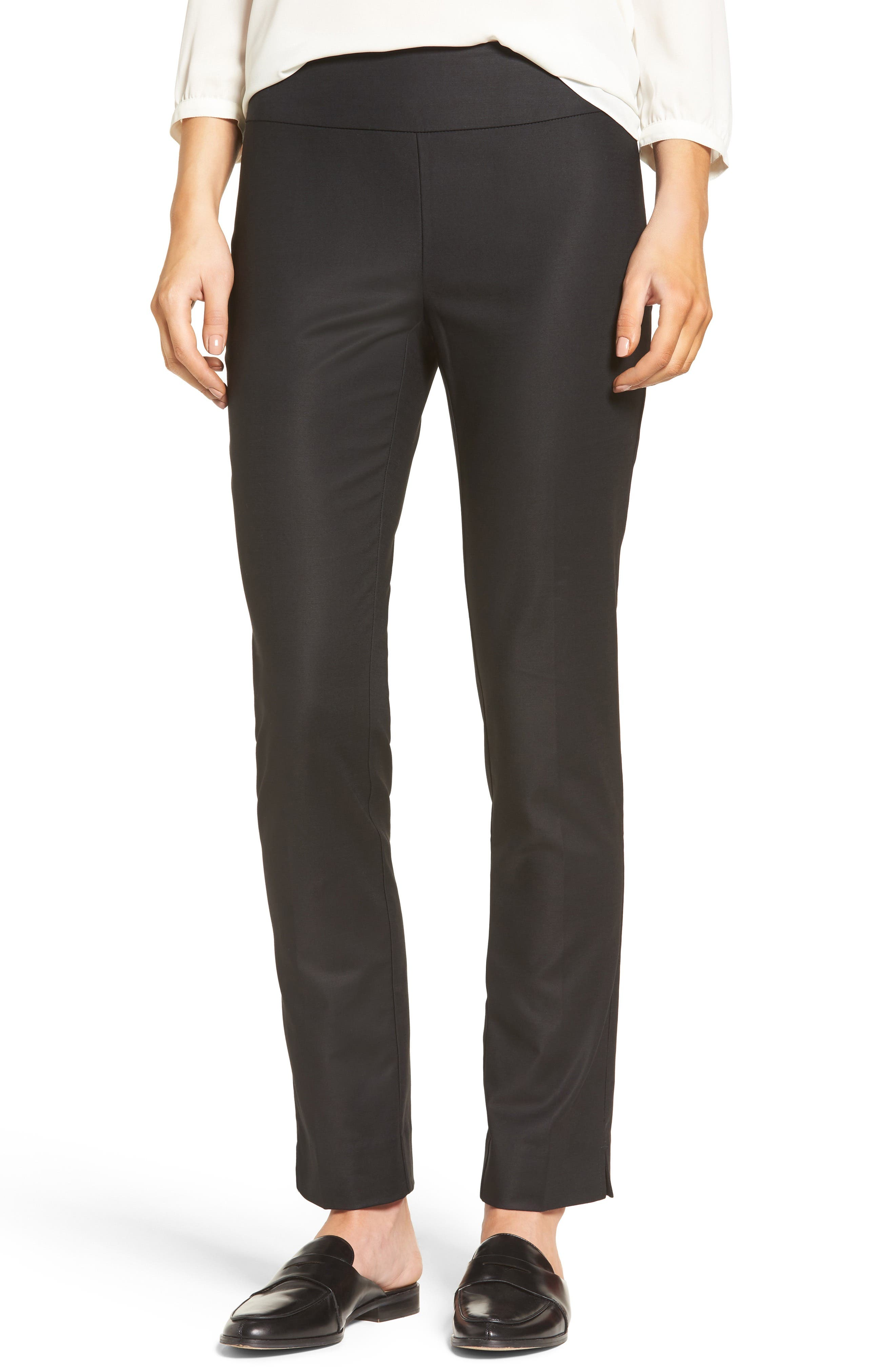 The Perfect Slim Ankle Pants, Main, color, BLACK ONYX