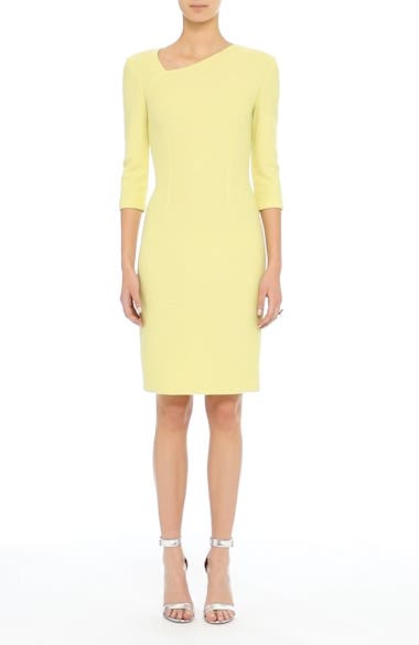 Hannah Knit Asymmetrical Sheath Dress, video thumbnail