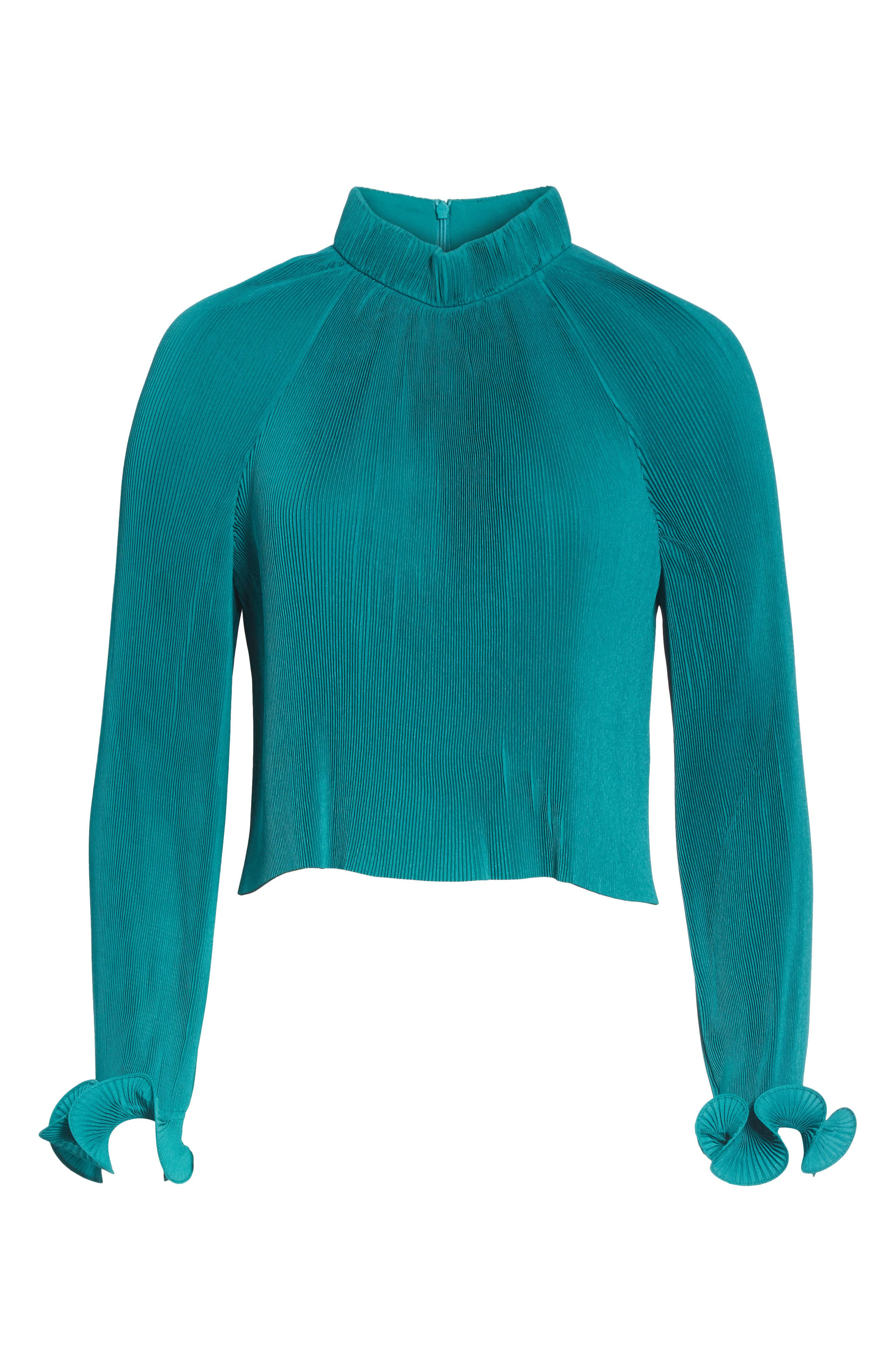 Pleated Crop Top,                             Alternate thumbnail 6, color,                             301