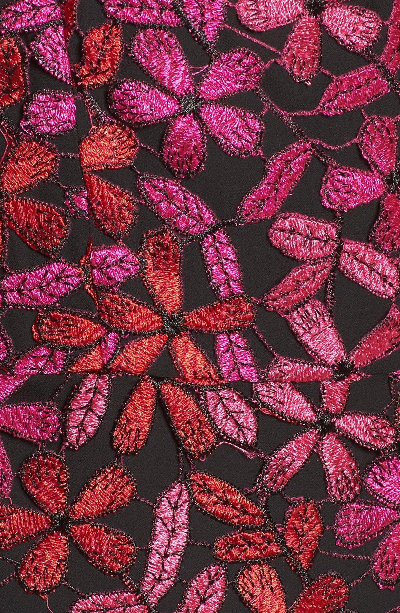 Floral Lace Sheath Dress,                             Alternate thumbnail 5, color,                             651