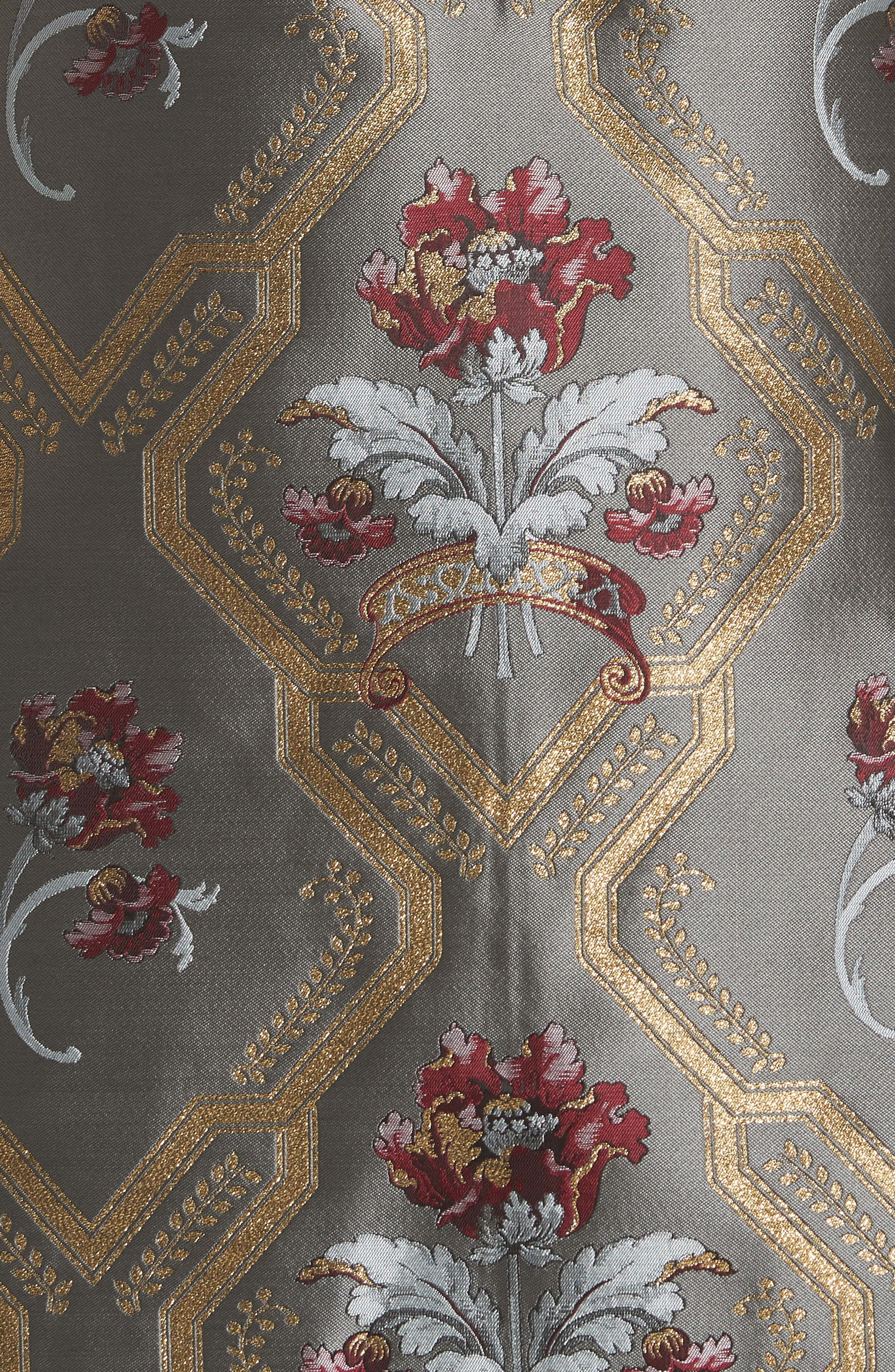 TED BAKER LONDON,                             Ice Palace Metallic Detail Skater Dress,                             Alternate thumbnail 5, color,                             020