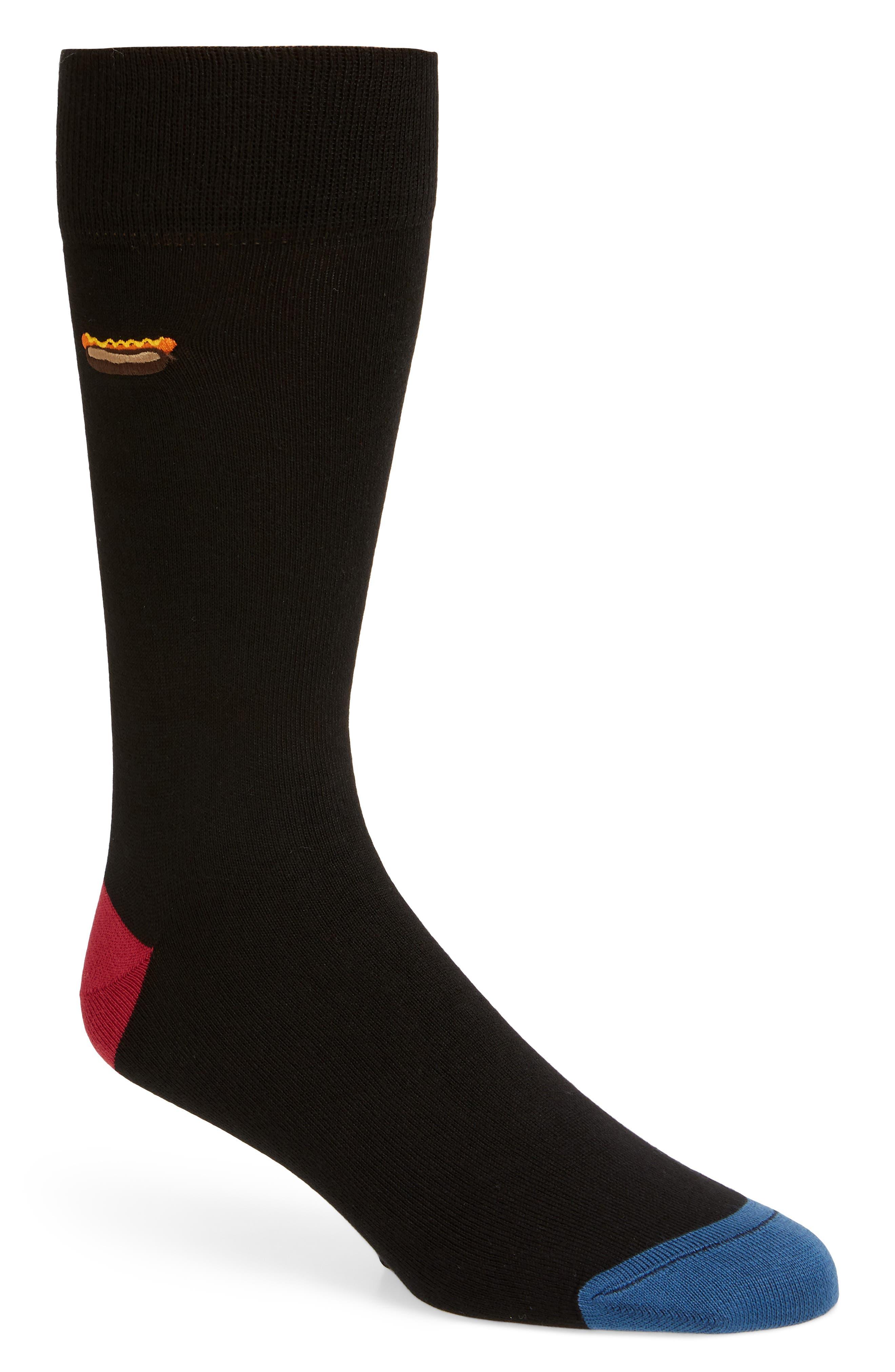 Food Socks,                         Main,                         color, BLACK