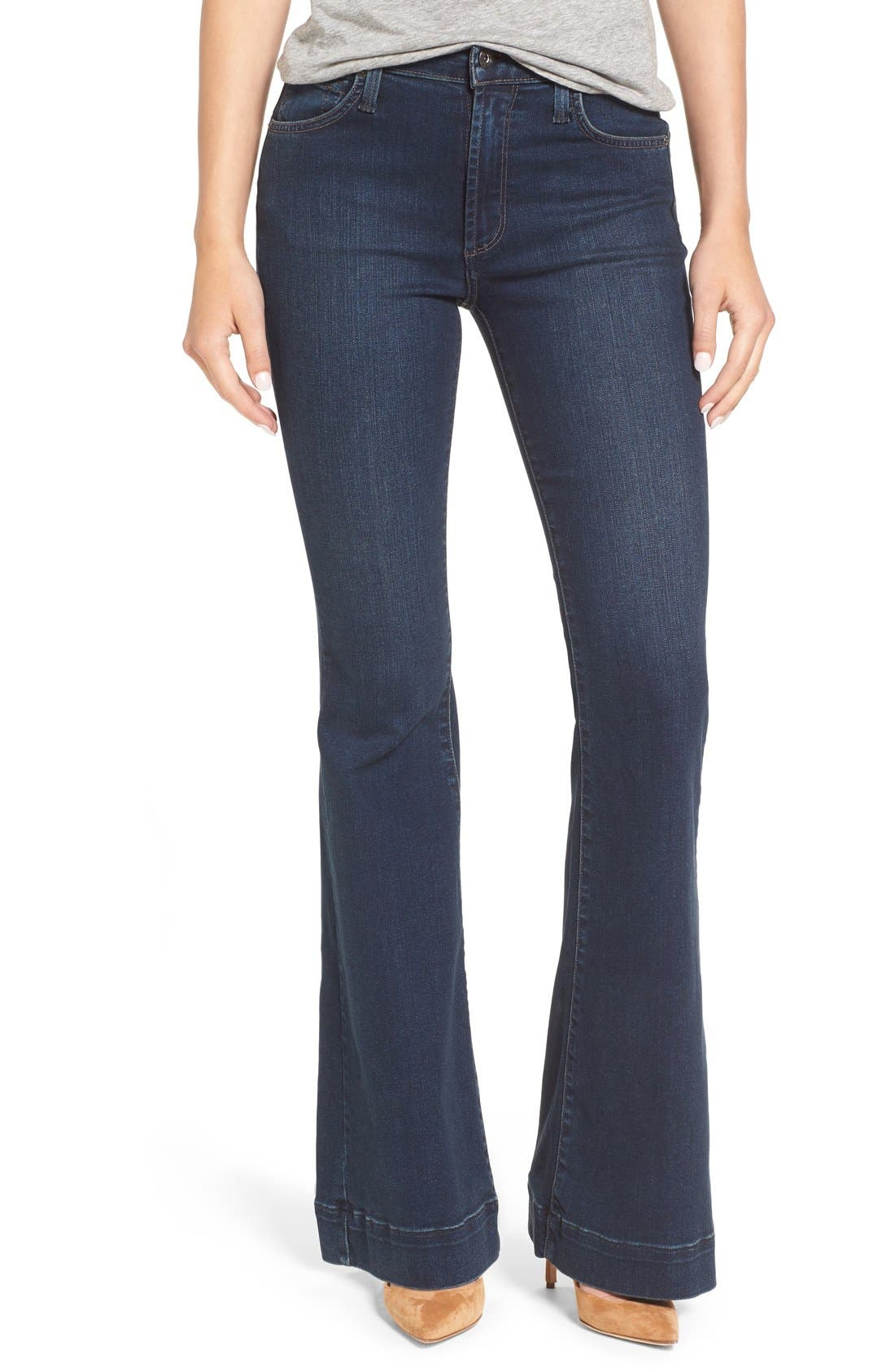 JAMES JEANS 'Shayebel' Flare Denim Trousers, Main, color, 401