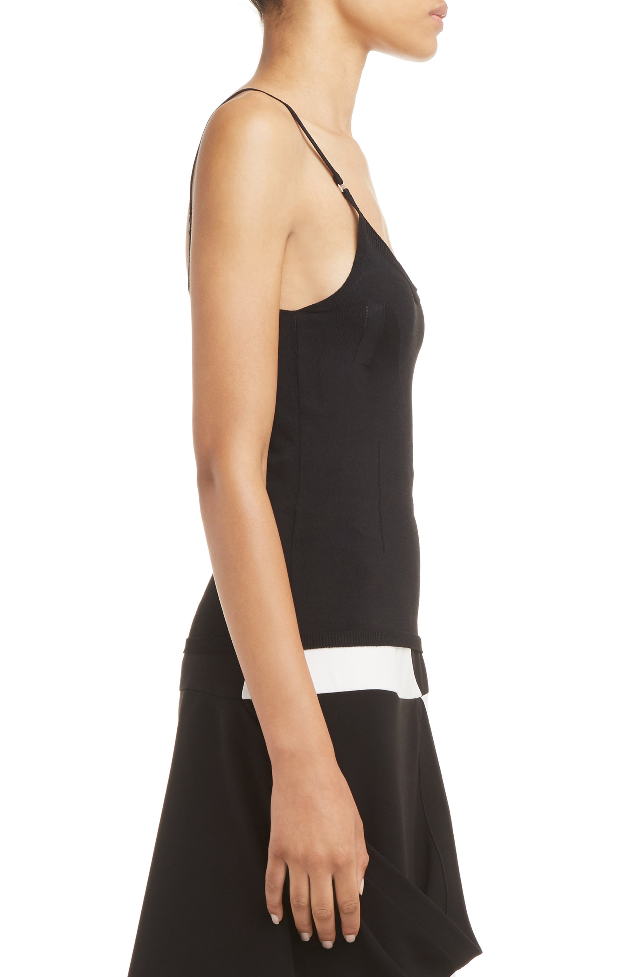J.W.ANDERSON Geometric Camisole,                             Alternate thumbnail 3, color,                             001