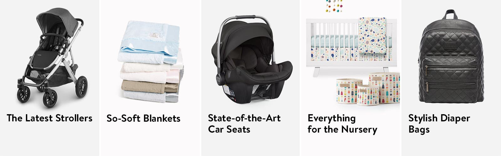 Baby gear essentials.