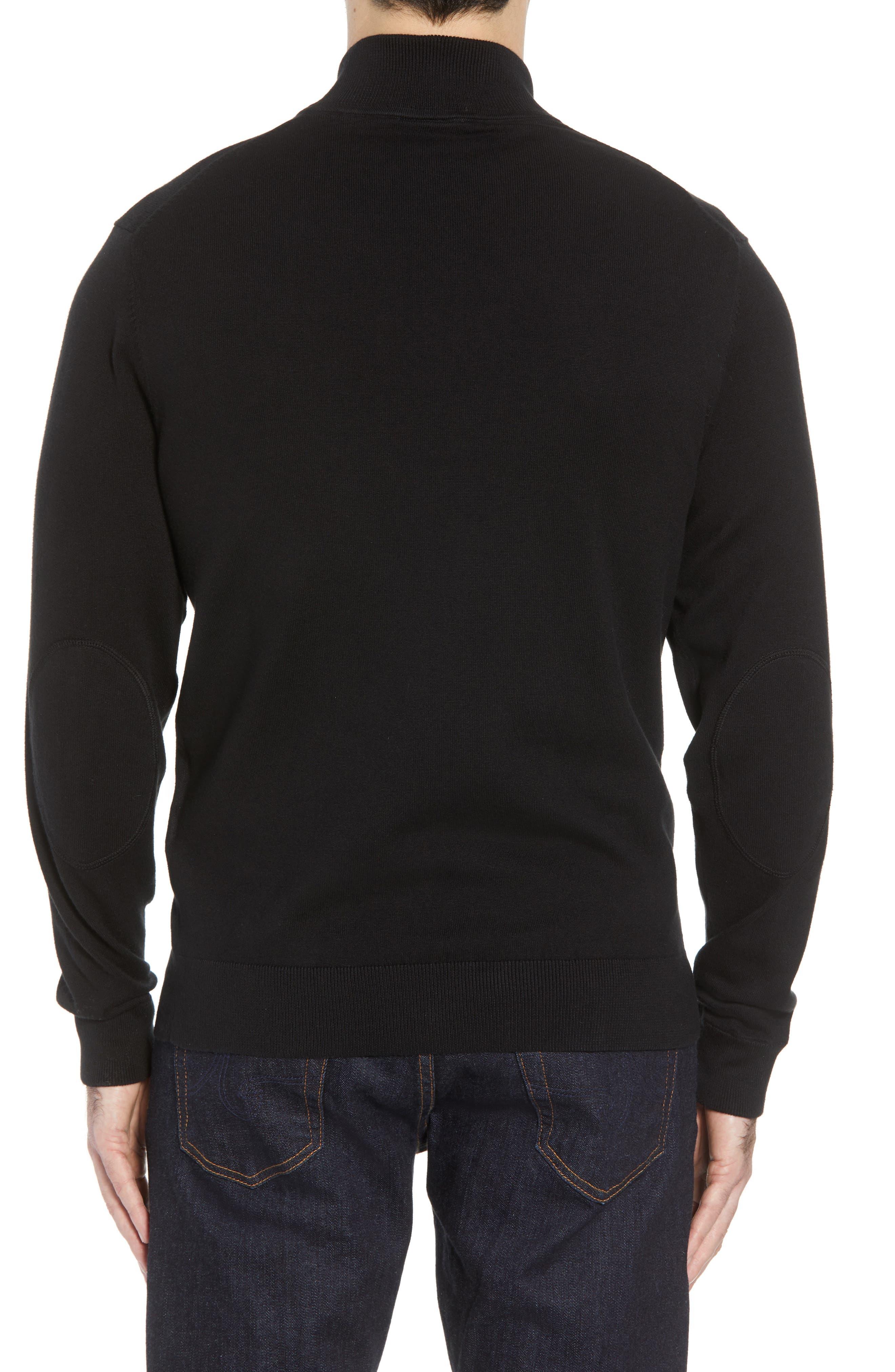 Jacksonville Jaguars - Lakemont Regular Fit Quarter Zip Sweater,                             Alternate thumbnail 2, color,                             BLACK