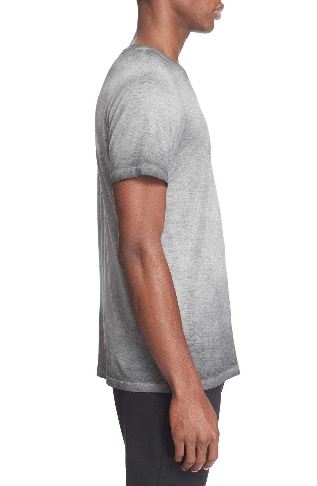'Trafford' Cotton Crewneck T-Shirt,                             Alternate thumbnail 4, color,                             001