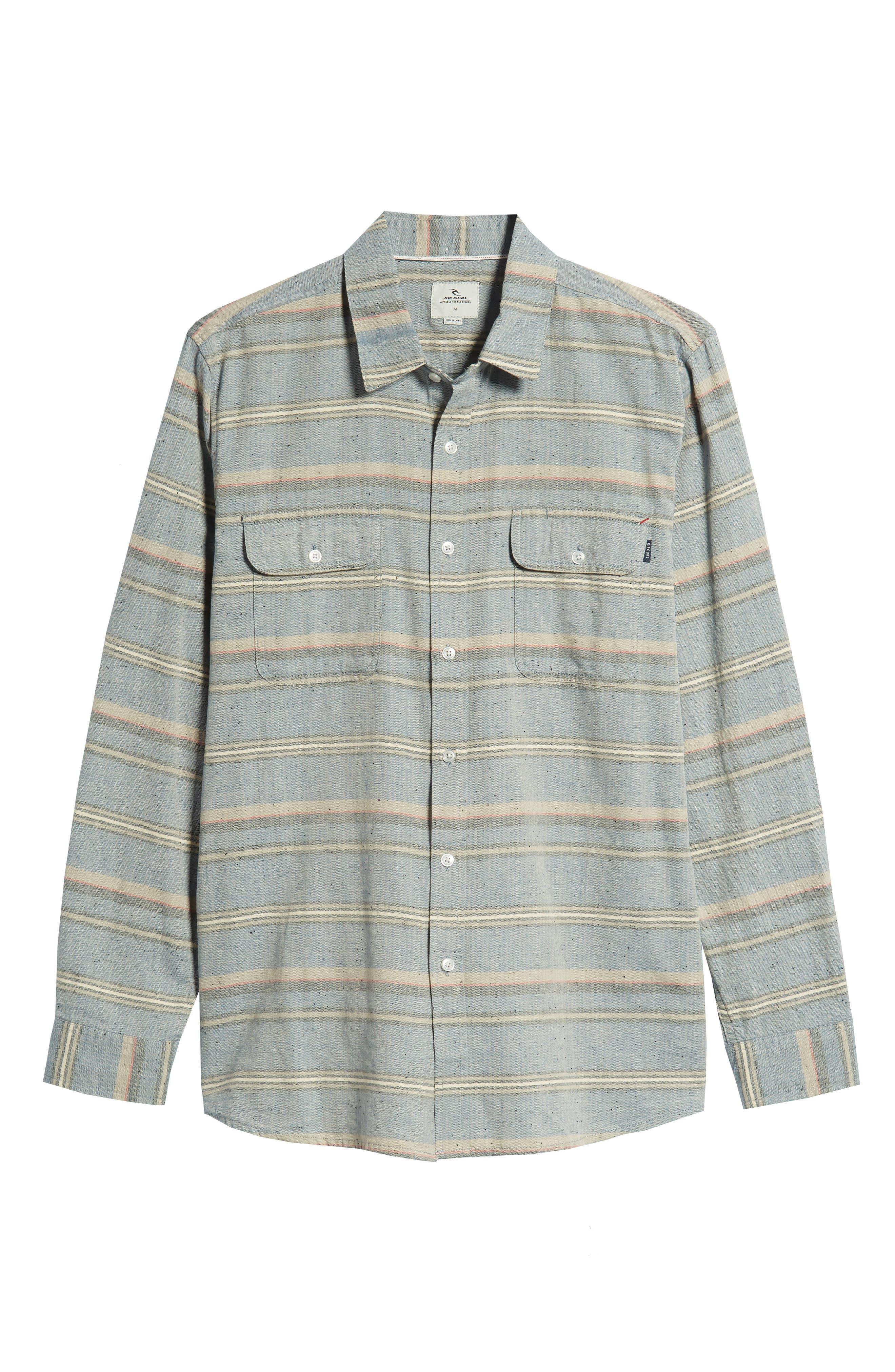 Logan Flannel Shirt,                             Alternate thumbnail 6, color,                             BLUE