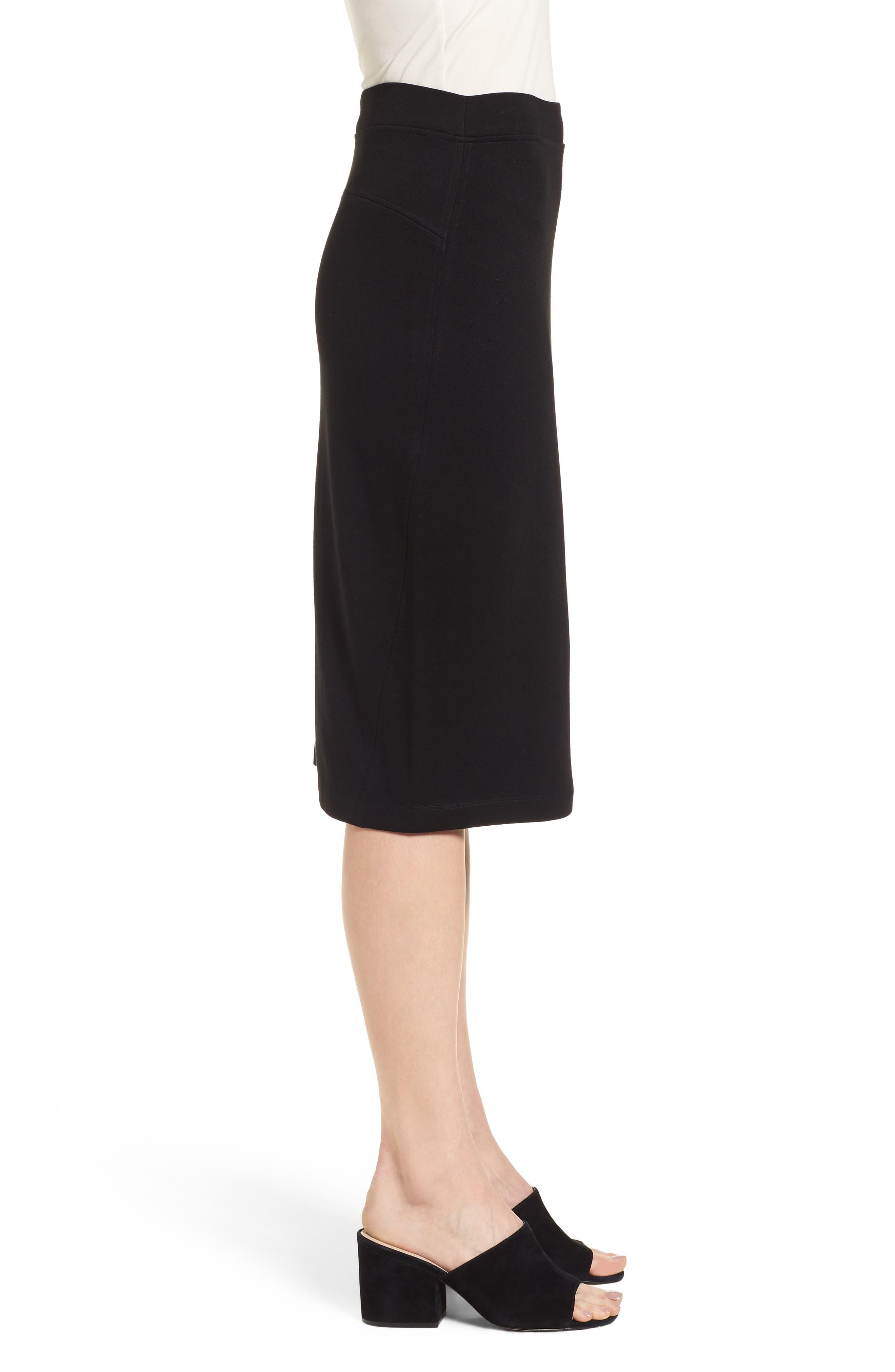 Tencel<sup>®</sup> Lyocell Blend Knit Pencil Skirt,                             Alternate thumbnail 3, color,