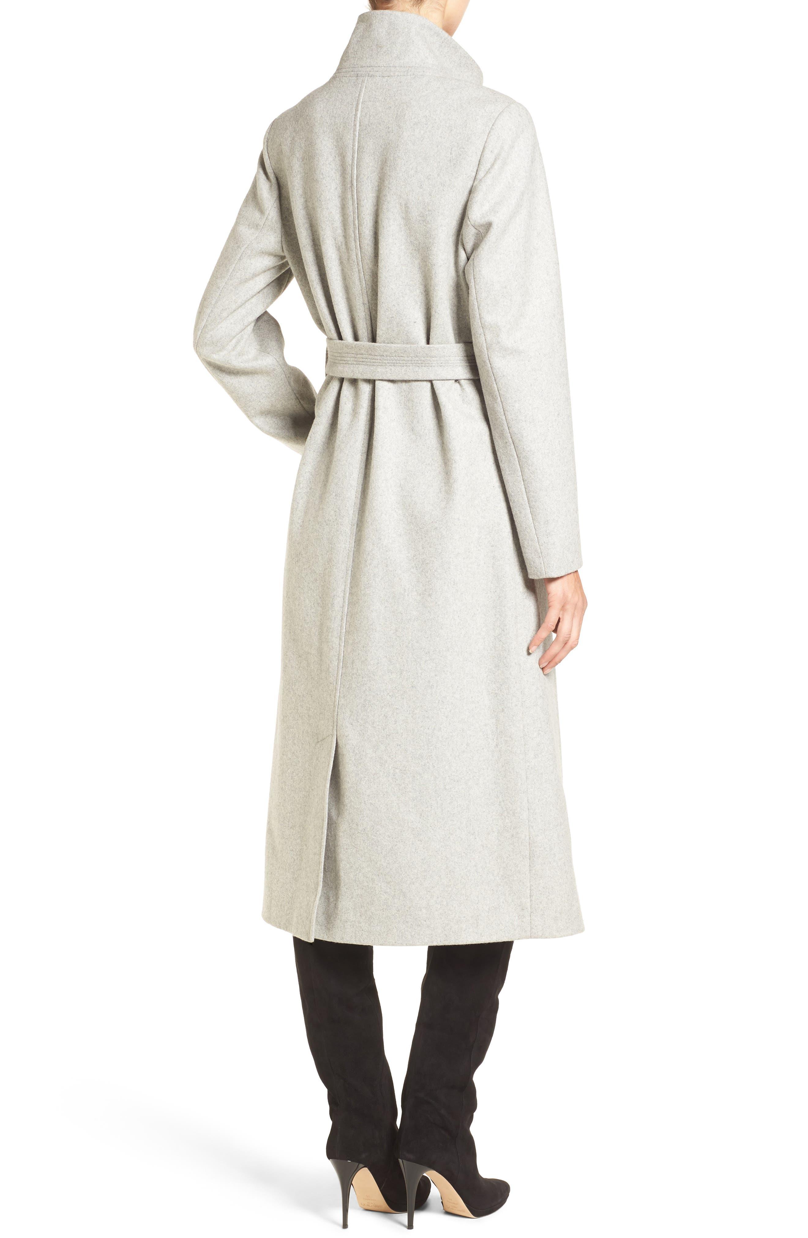 Fencer Melton Wool Maxi Coat,                             Alternate thumbnail 2, color,                             GLACIER