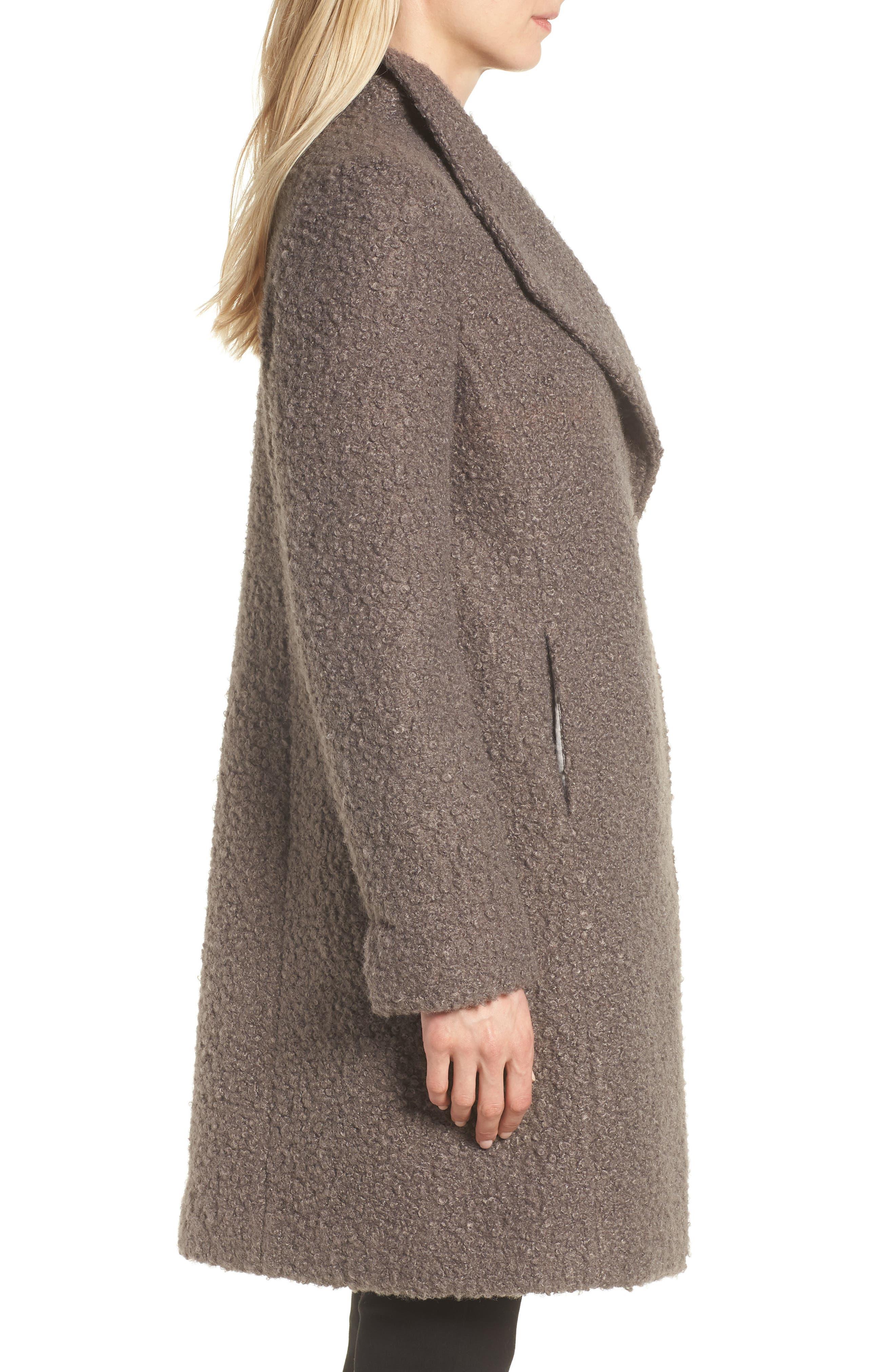 Sheila Bouclé Knit Coat,                             Alternate thumbnail 3, color,                             087