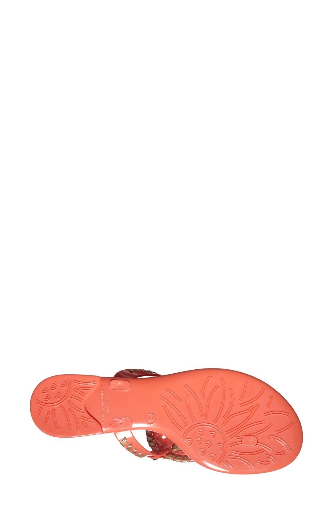 'Georgica' Jelly Flip Flop,                             Alternate thumbnail 83, color,