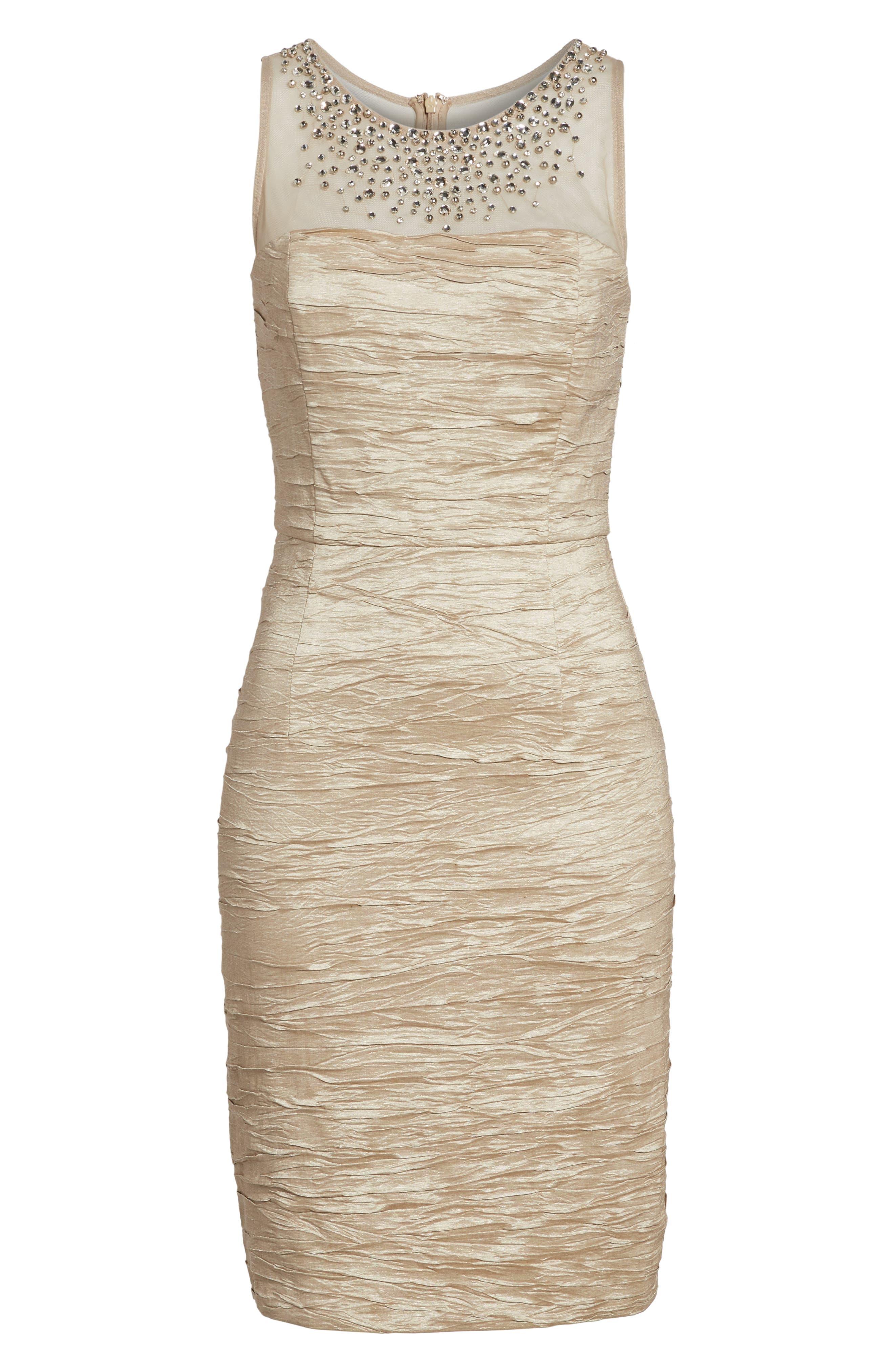 Metallic Sheath Dress,                             Alternate thumbnail 13, color,