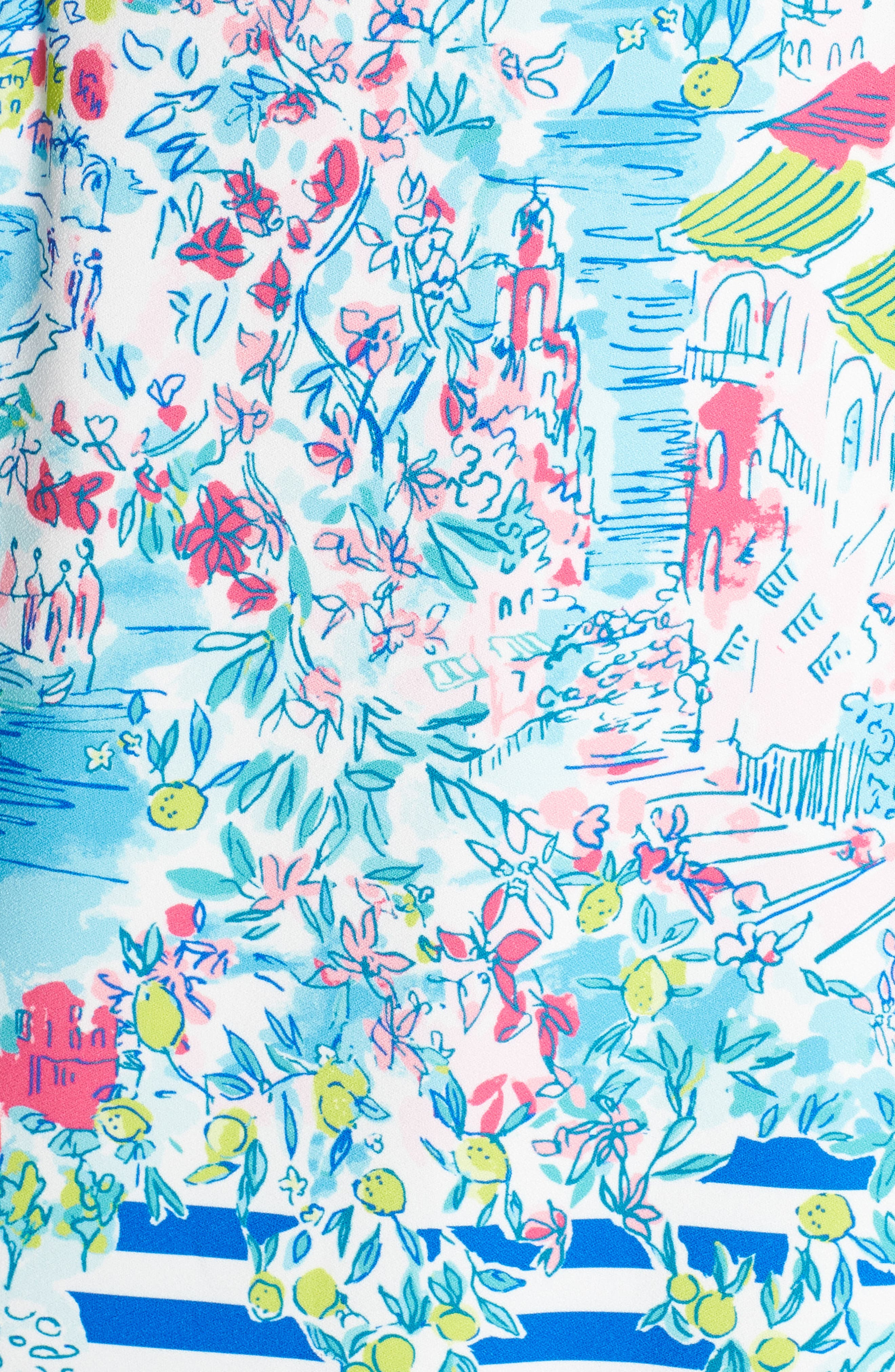 LILLY PULITZER<SUP>®</SUP>,                             Marli Stretch Shift Dress,                             Alternate thumbnail 5, color,                             MULTI POSTCARDS FROM POSITANO