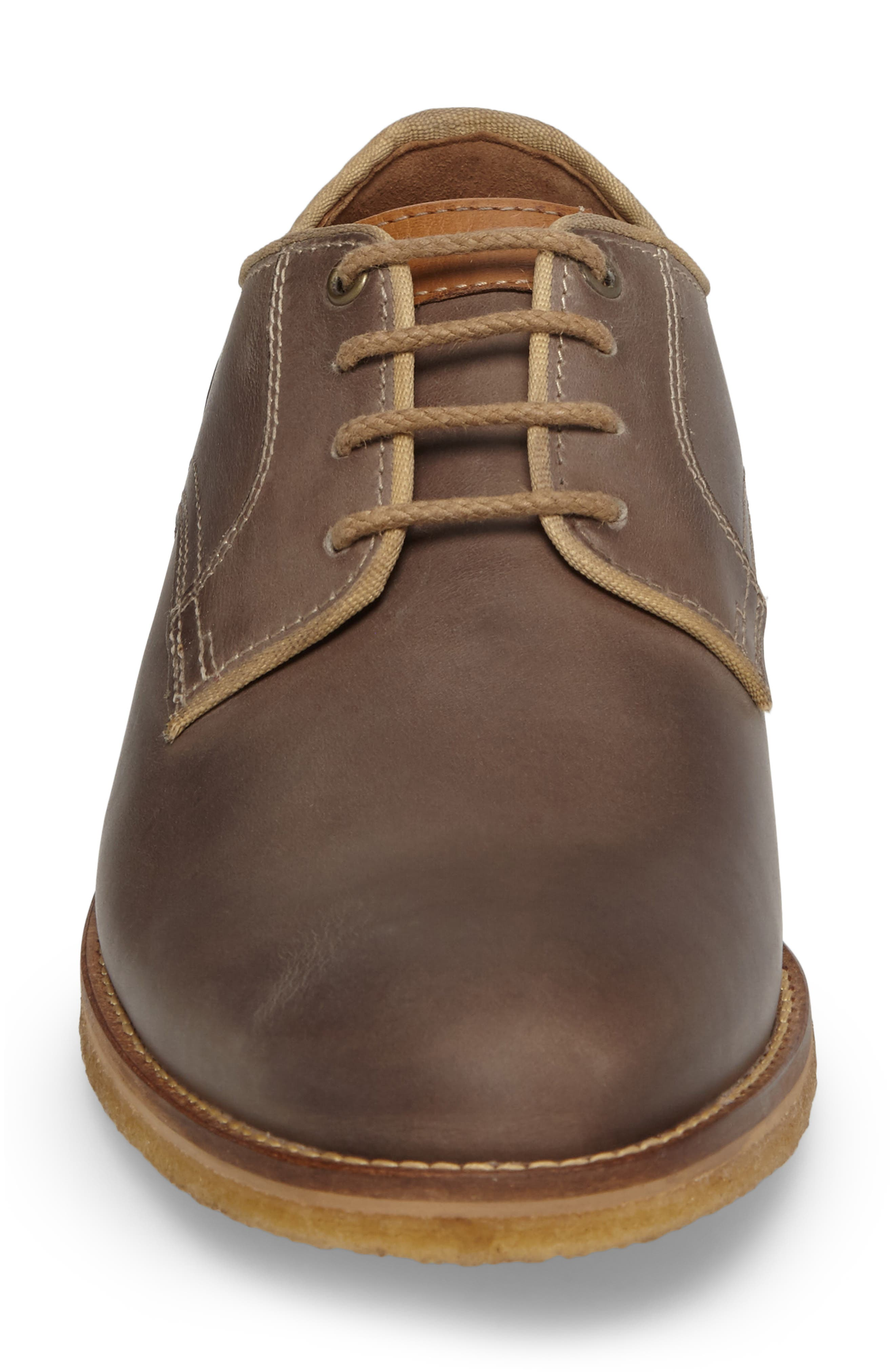 Howell Plain Toe Derby,                             Alternate thumbnail 4, color,                             GREY SUEDE