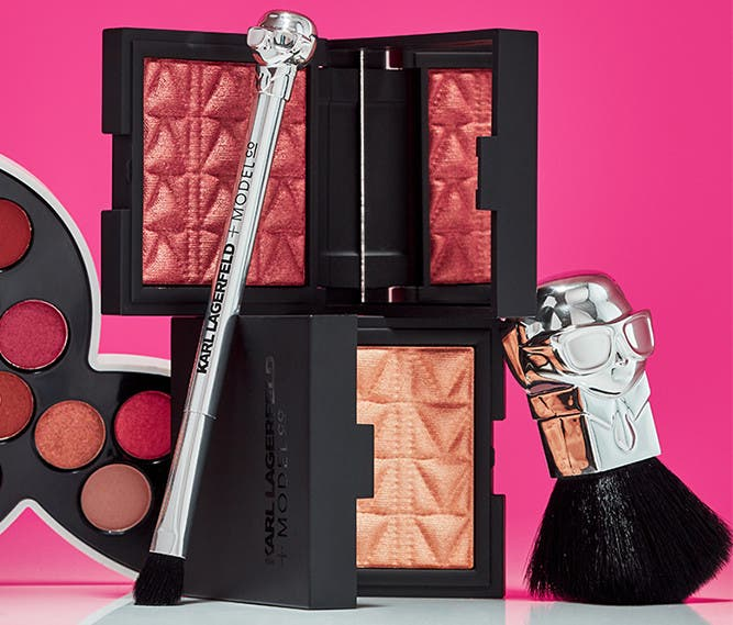 Karl Lagerfeld and ModelCo palettes and brushes.