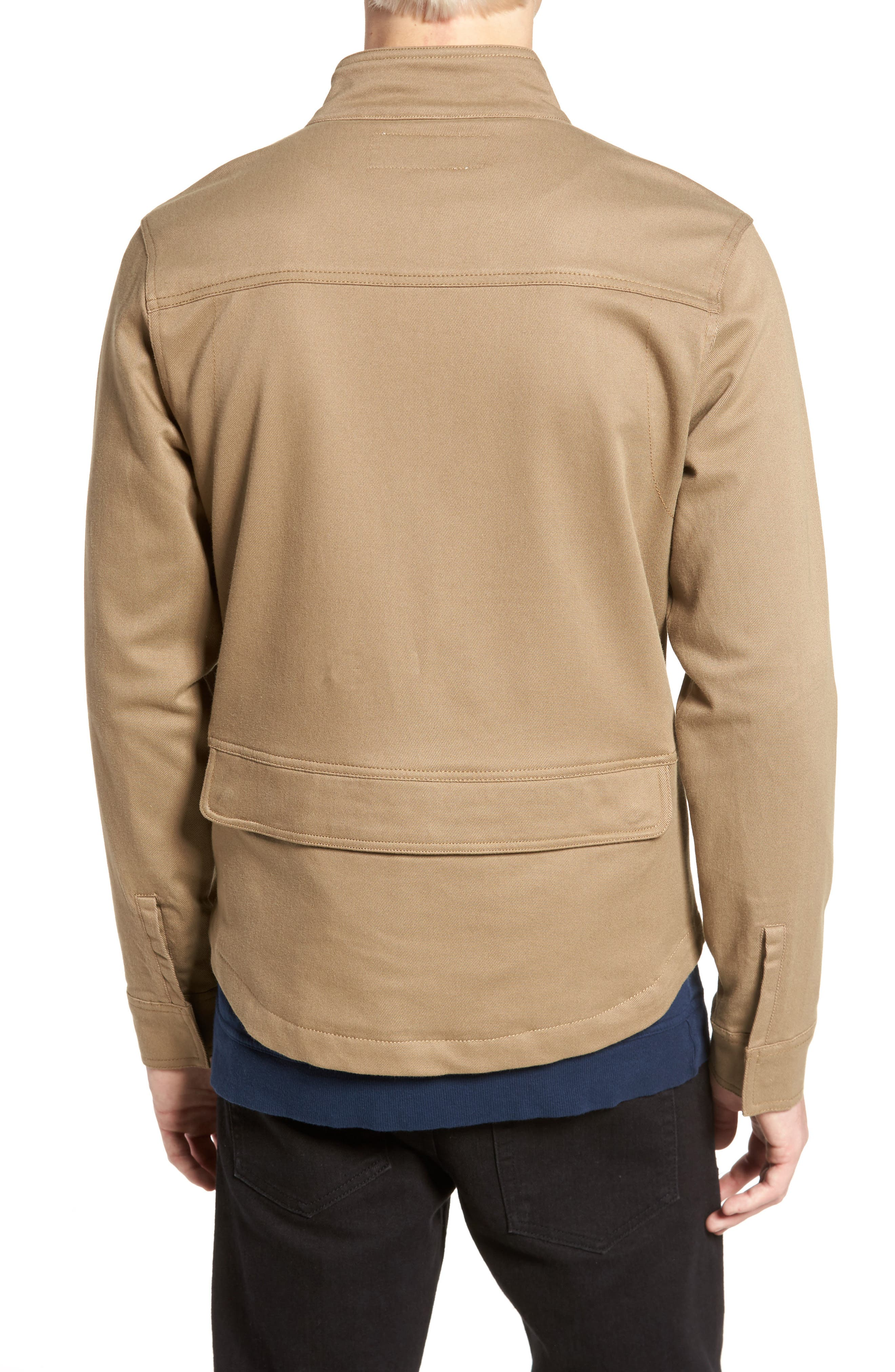 Brushed Twill Zip Jacket,                             Alternate thumbnail 2, color,