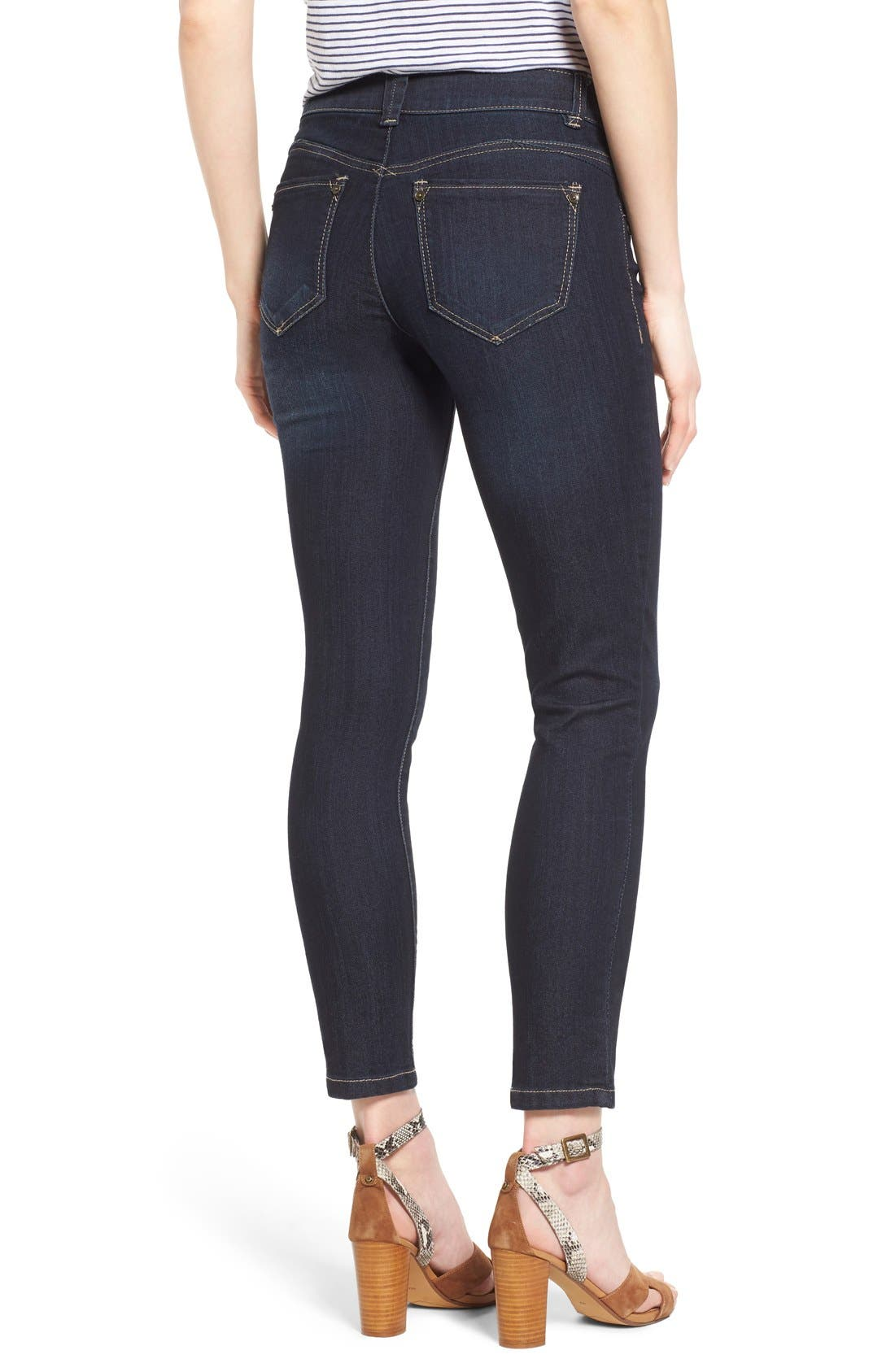'Ab Solution' Stretch Ankle Skinny Jeans,                             Alternate thumbnail 3, color,