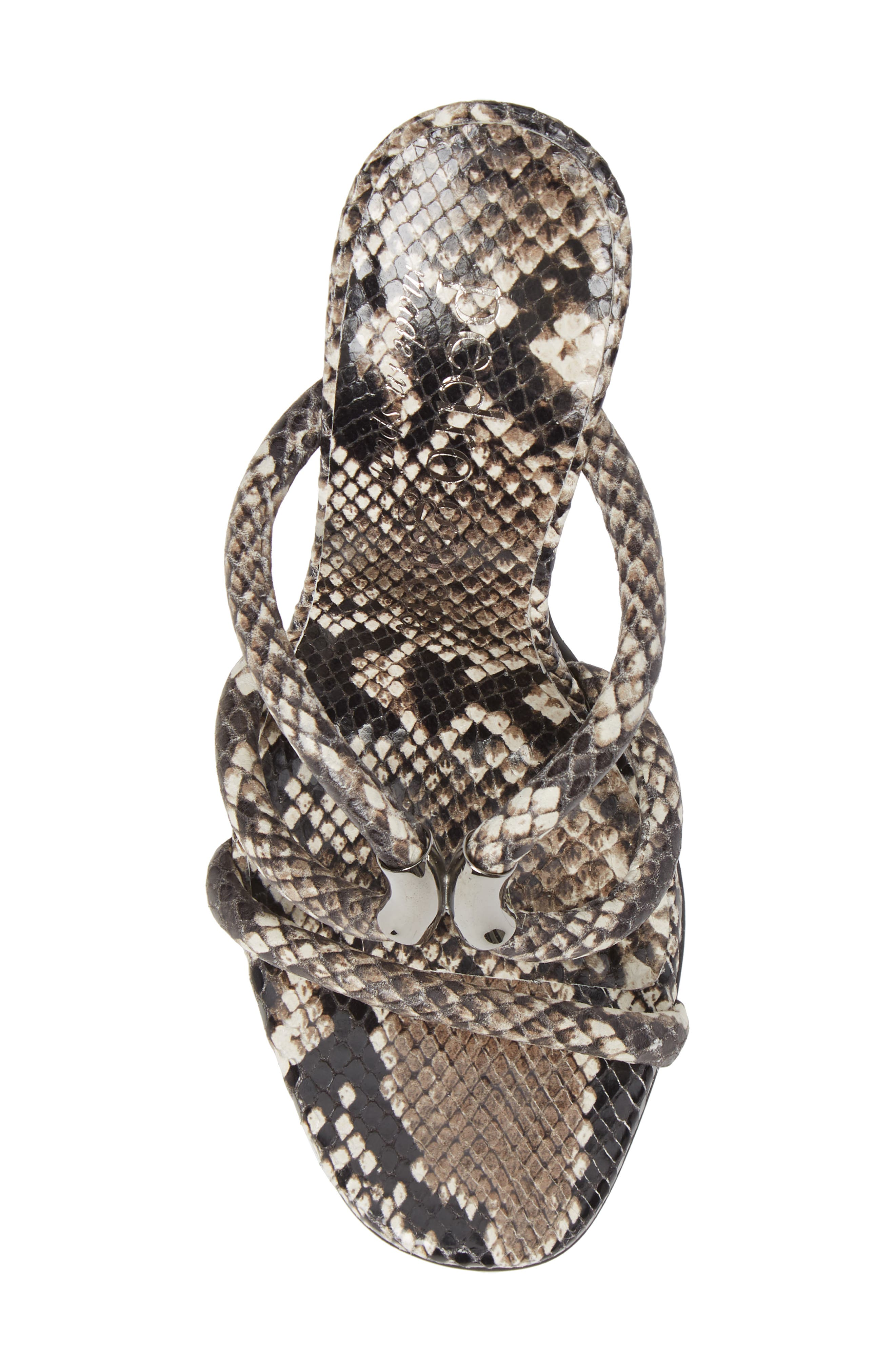 Macy Rope Sandal,                             Alternate thumbnail 5, color,                             NATURAL PYTHON