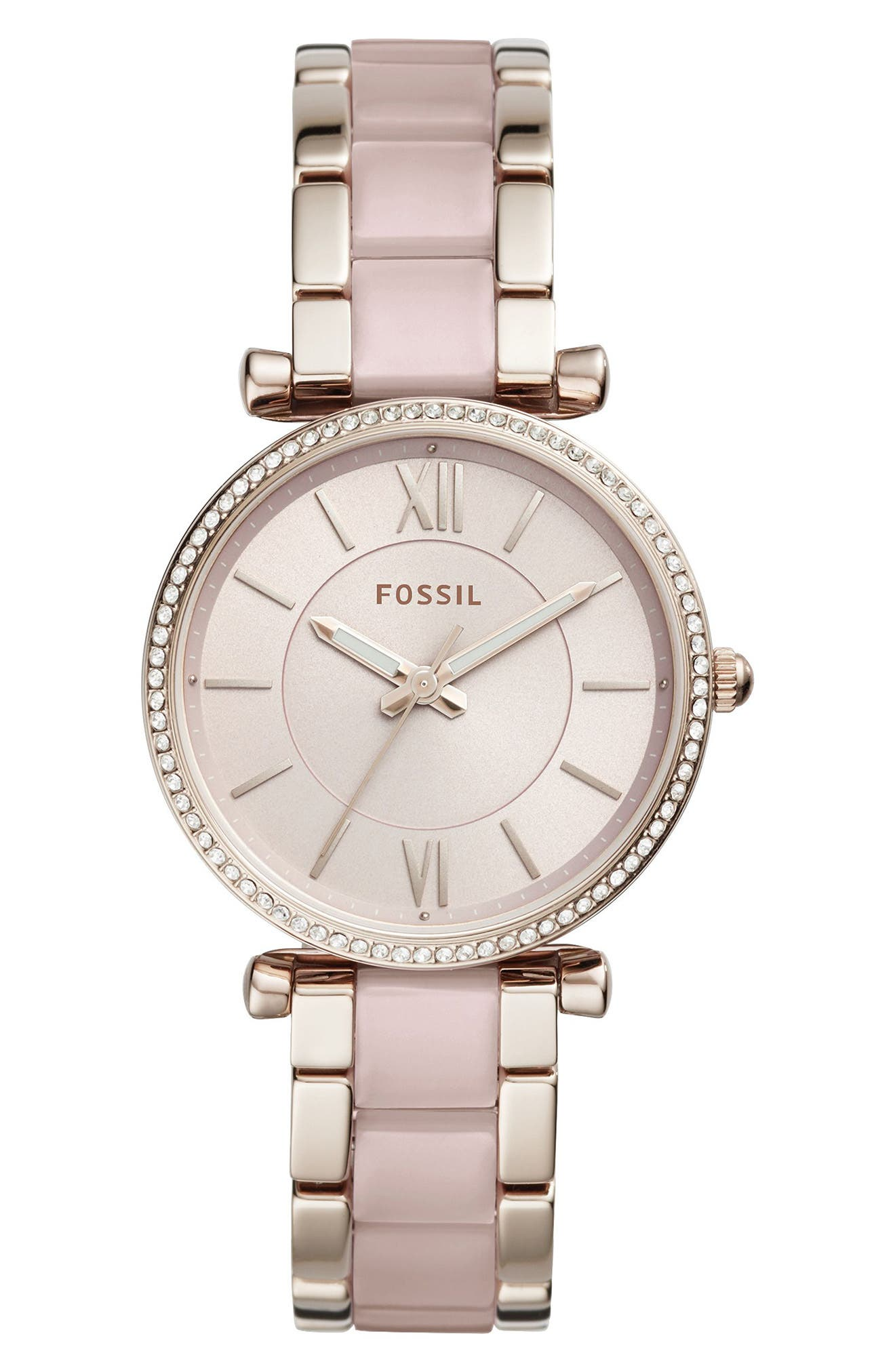 Carlie Crystal Accent T-Bar Bracelet Watch, 35mm,                             Main thumbnail 1, color,                             651