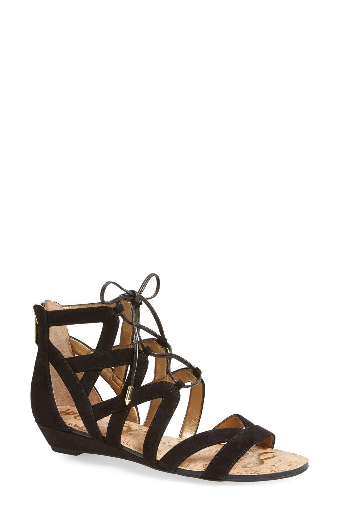 'Dawson' Ghillie Sandal, Main, color, 001