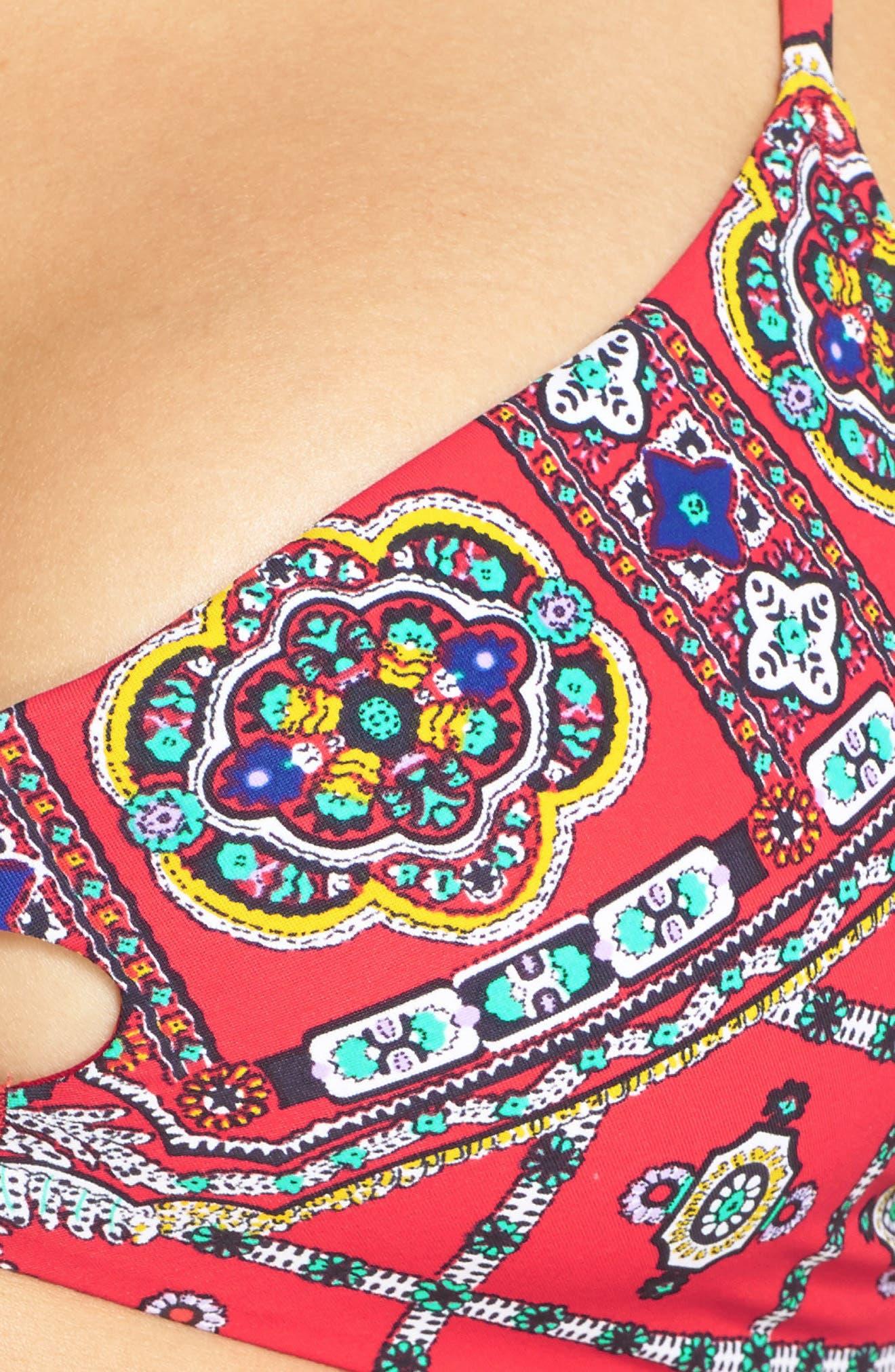 'Pretty Tough' Bralette Bikini Top,                             Alternate thumbnail 5, color,                             605