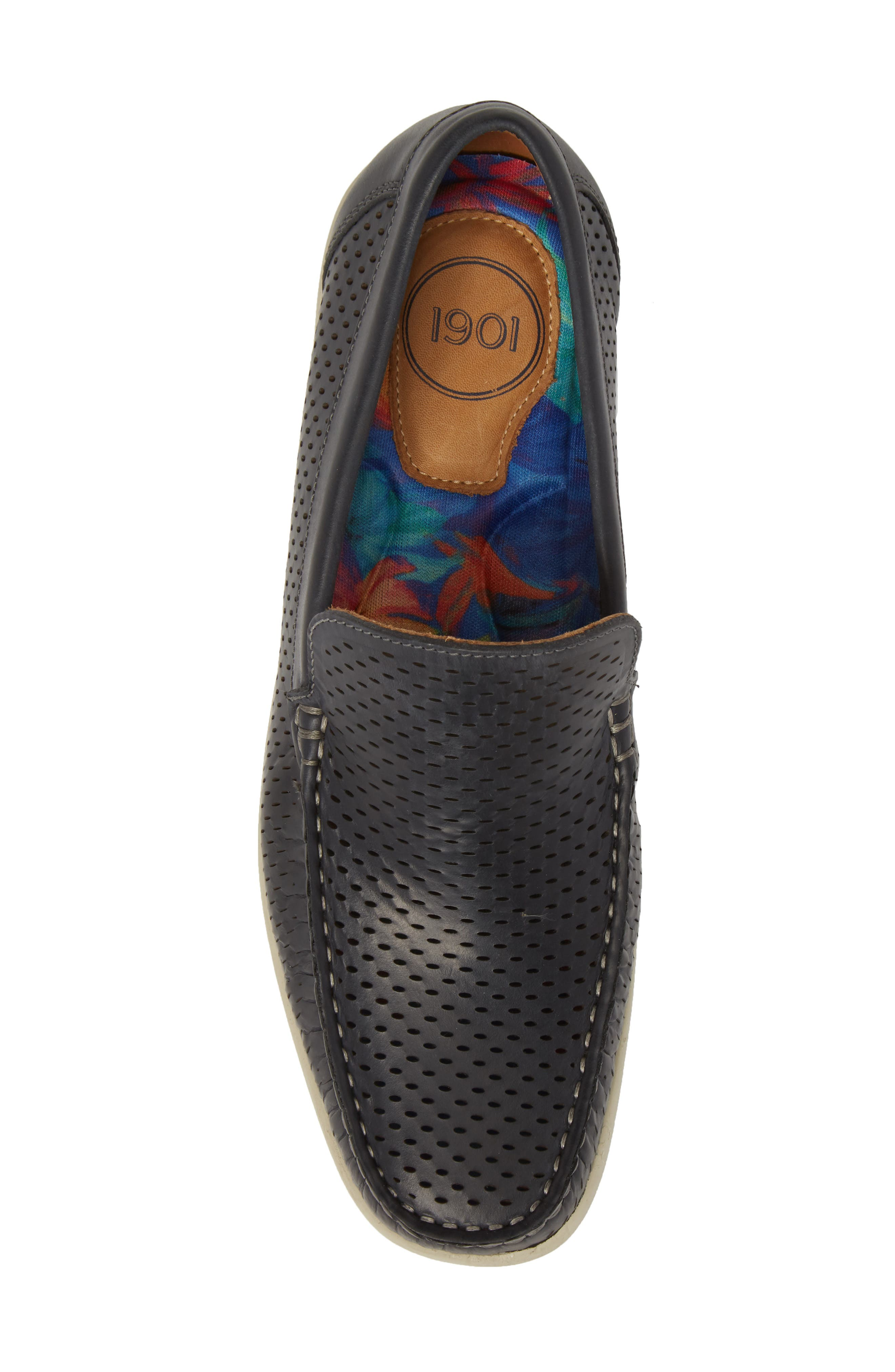 Manhattan Loafer,                             Alternate thumbnail 5, color,                             NAVY LEATHER