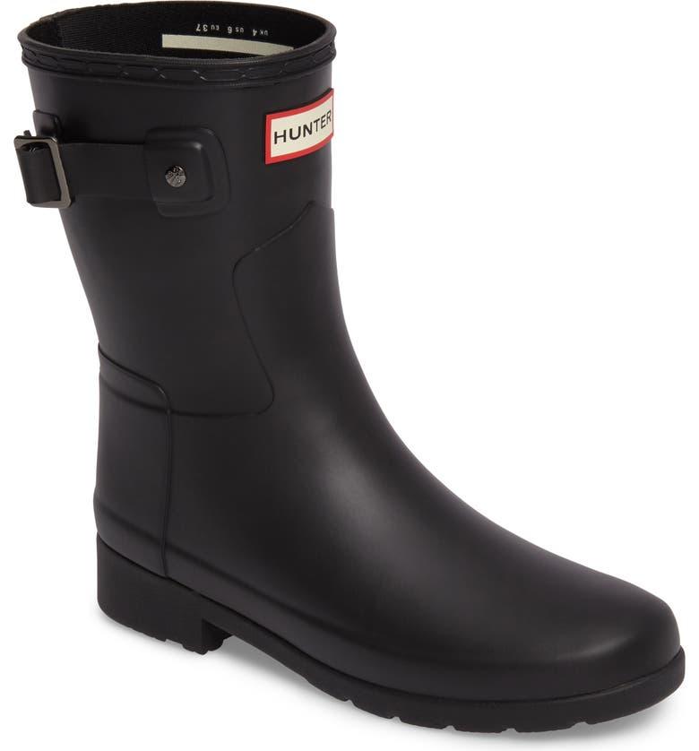 Shop For Hunter Original Refined Short Waterproof Rain Boot (Women) Great price