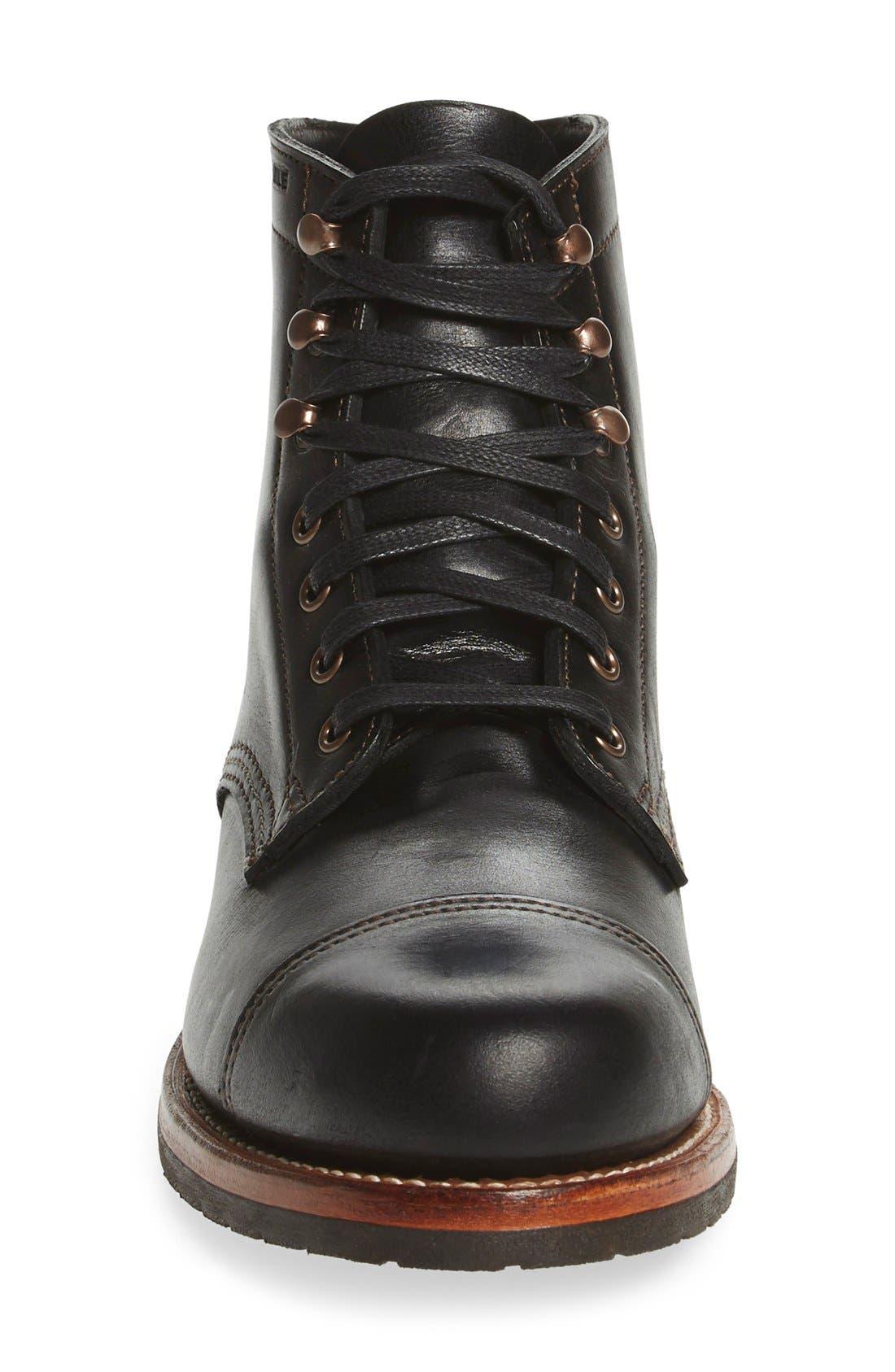 'Adrian' Cap Toe Boot,                             Alternate thumbnail 3, color,                             001