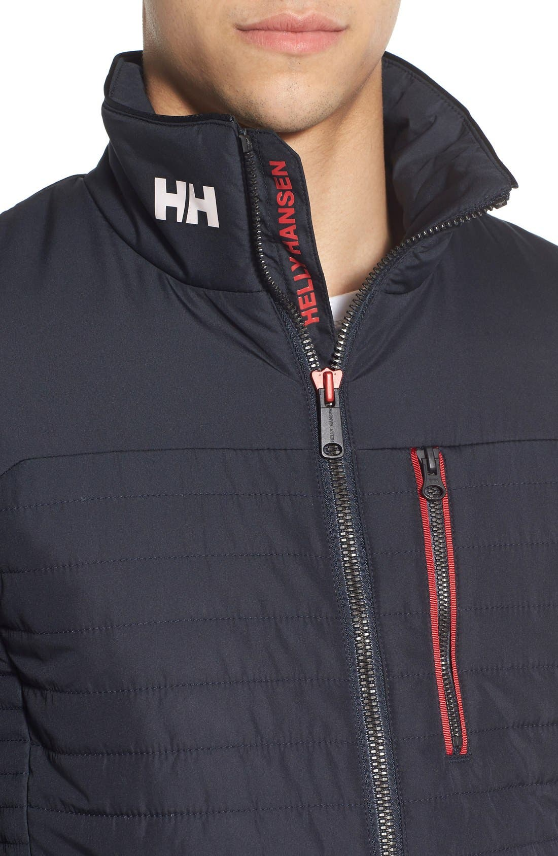 'Crew' Water & Wind Resistant Primaloft<sup>®</sup> Jacket,                             Alternate thumbnail 5, color,                             NAVY