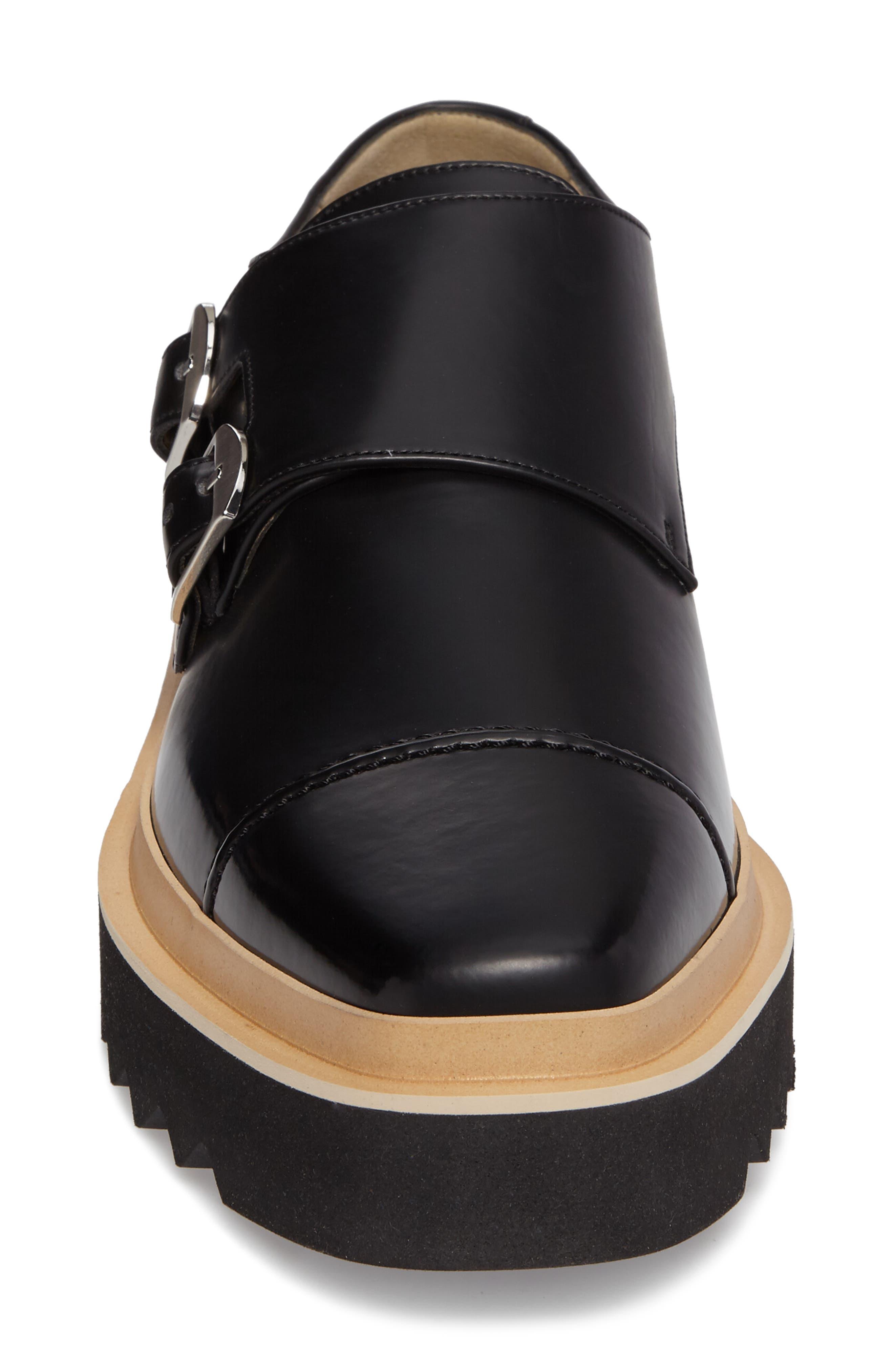 Peter Platform Monk Shoe,                             Alternate thumbnail 4, color,                             001