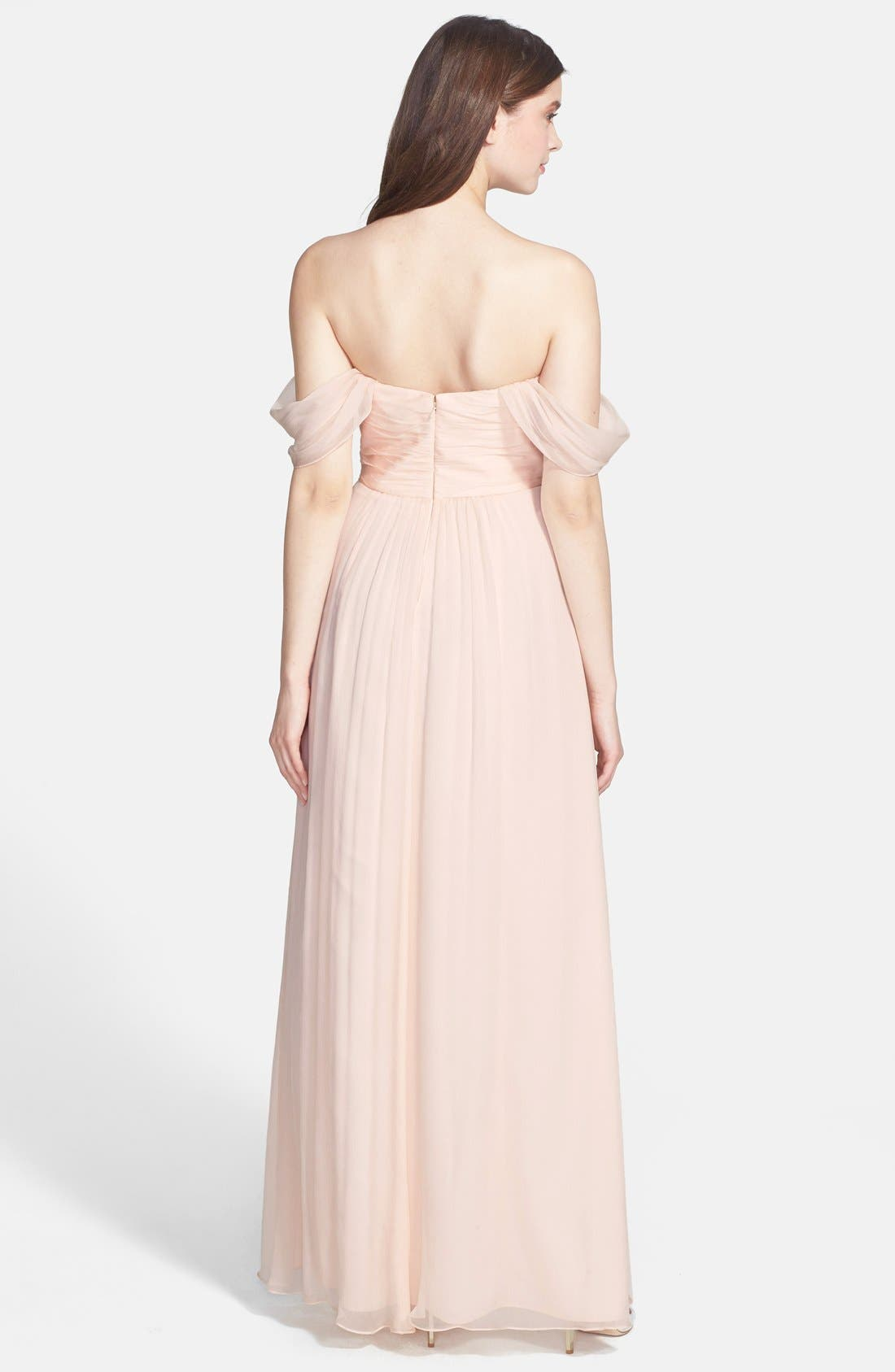 Convertible Crinkled Silk Chiffon Gown,                             Alternate thumbnail 24, color,