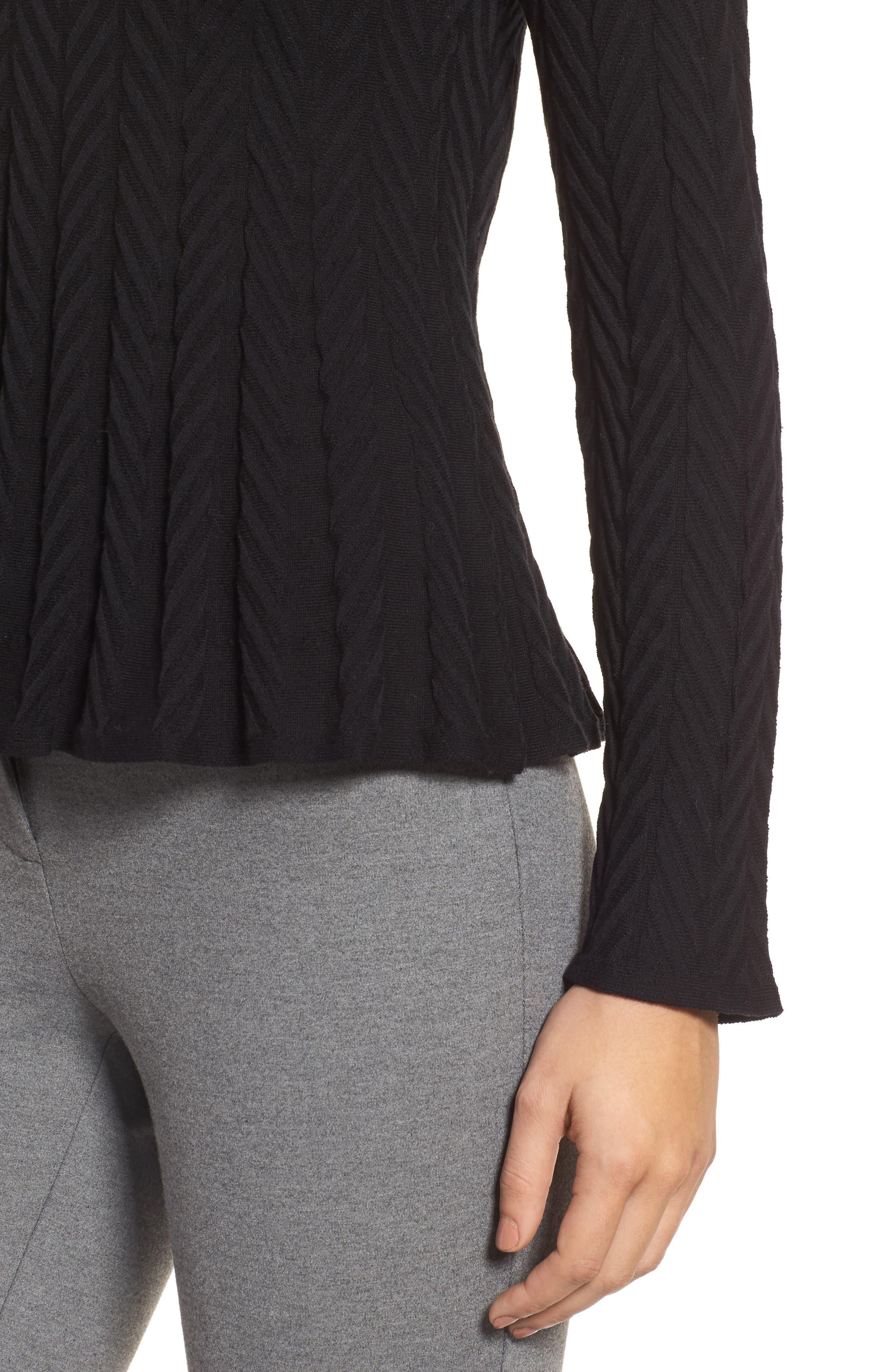 Chevron Stitch Sweater,                             Alternate thumbnail 4, color,                             010