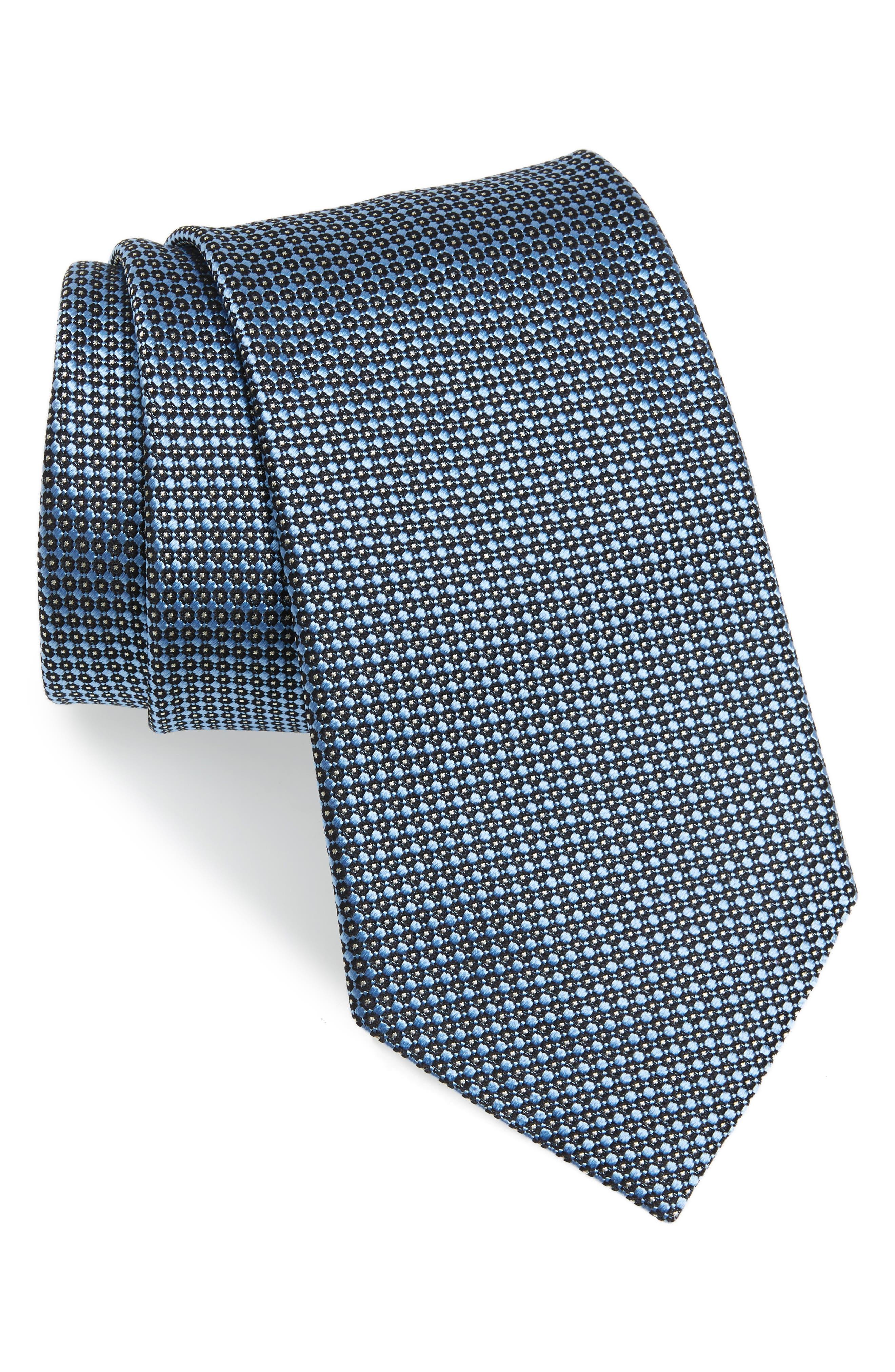 Geometric Silk Tie,                             Main thumbnail 1, color,                             439