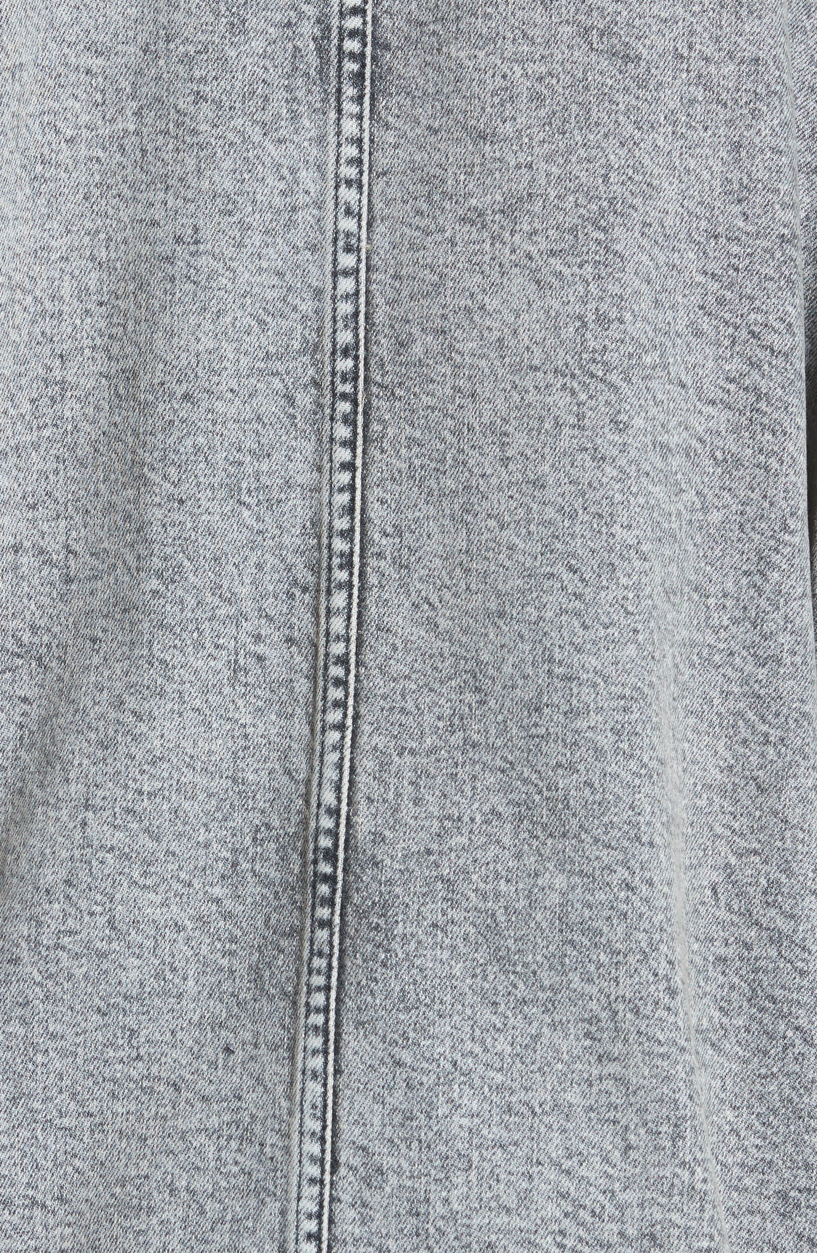 Acid Wash Oversize Denim Jacket,                             Alternate thumbnail 6, color,                             023