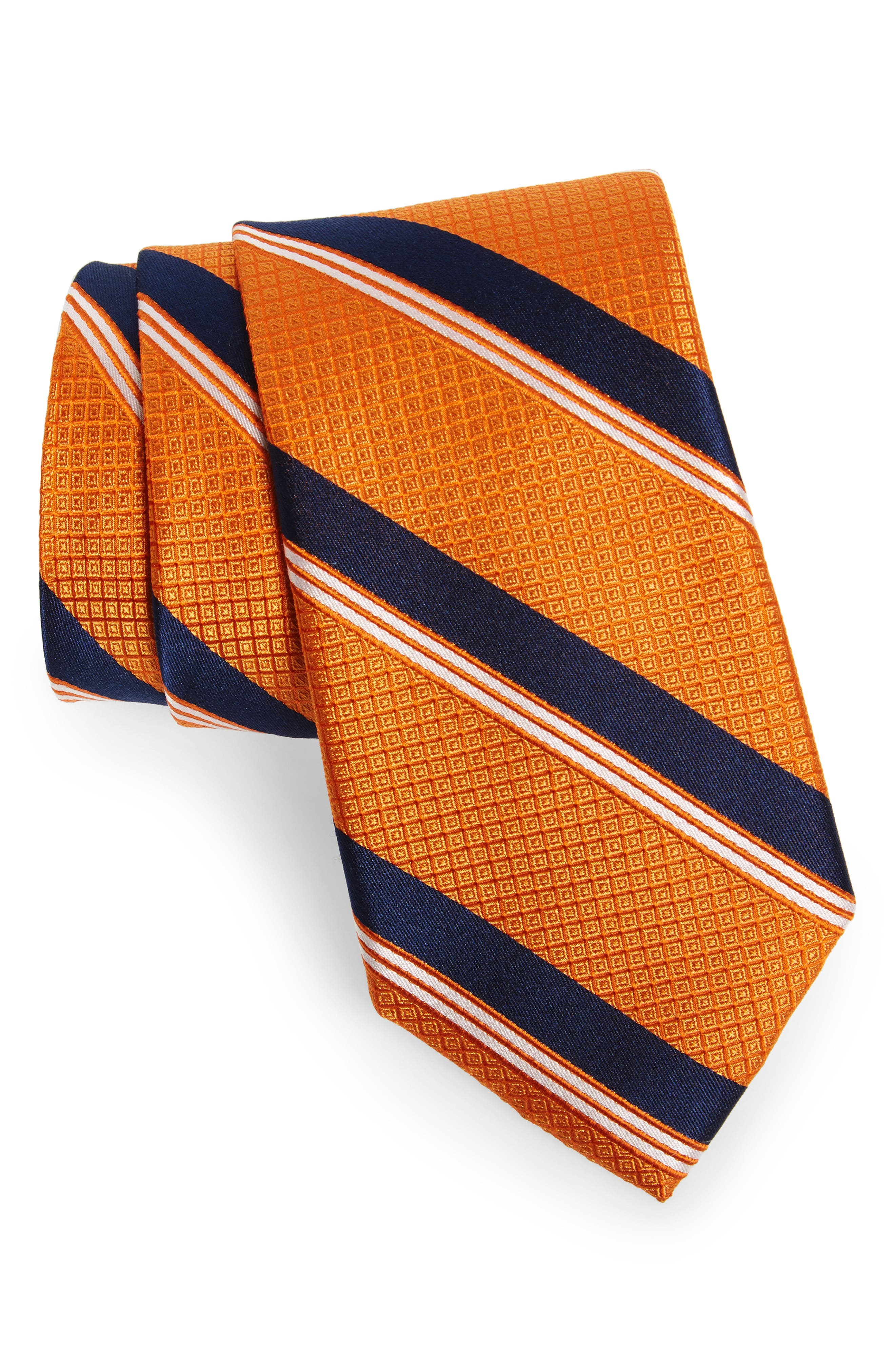 Stripe Silk Tie,                             Main thumbnail 5, color,