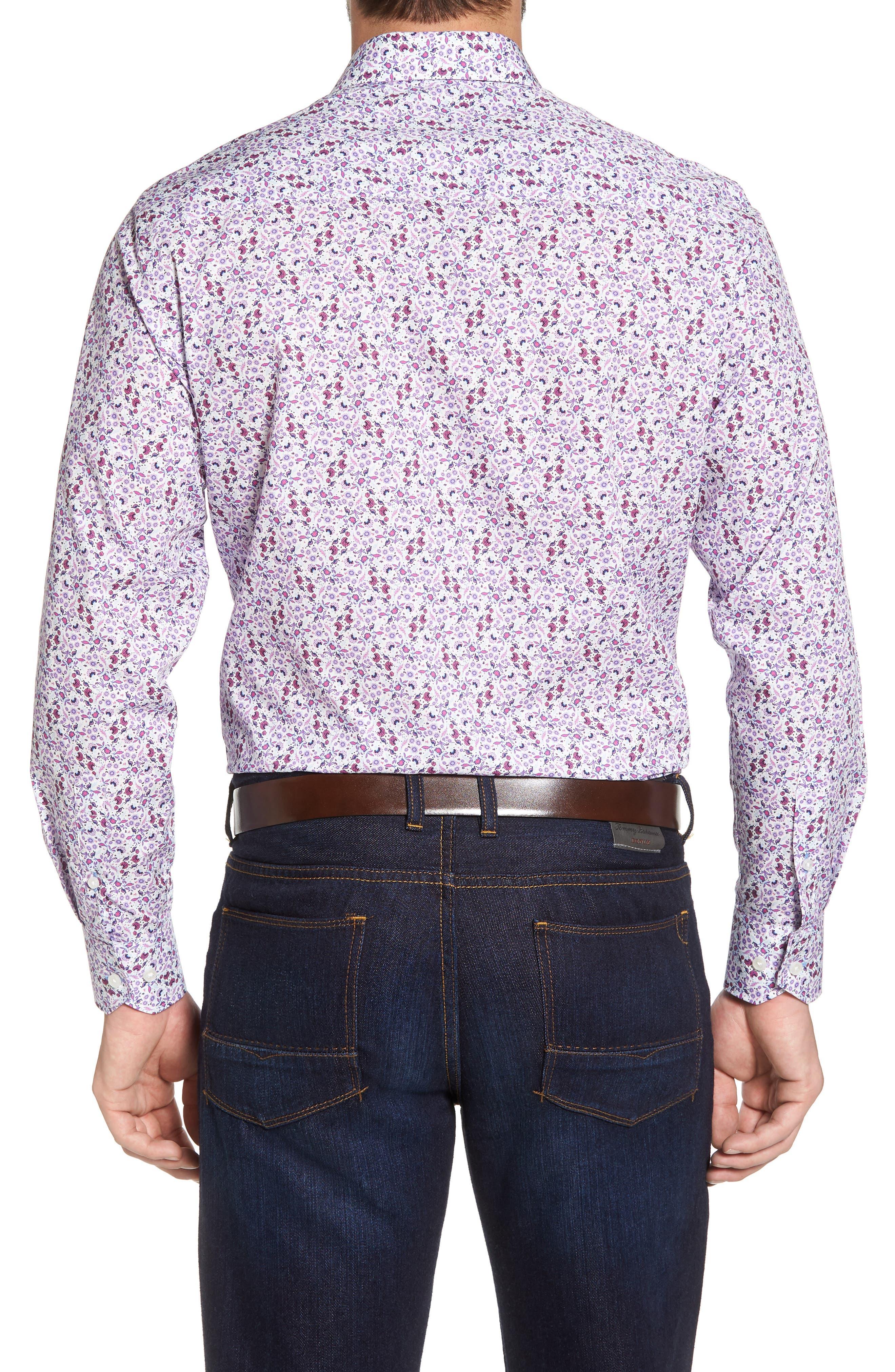Kaj Regular Fit Floral Print Sport Shirt,                             Alternate thumbnail 2, color,