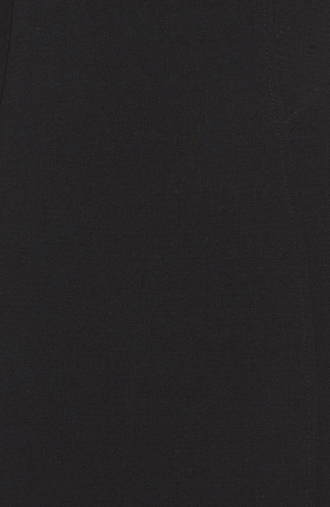 Seamed Stretch Sheath Dress,                             Alternate thumbnail 5, color,                             001